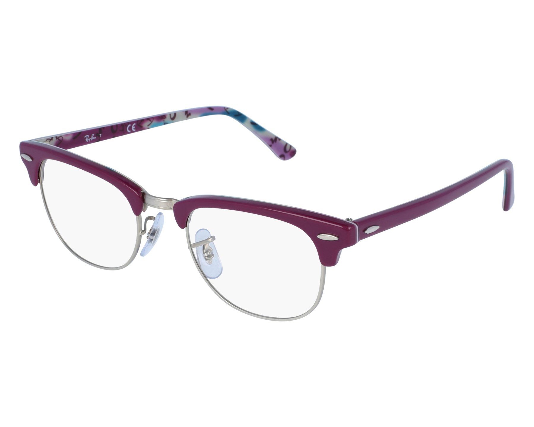b7cdb86c225 eyeglasses Ray-Ban RX-5154 5652 49-21 Purple Silver front view