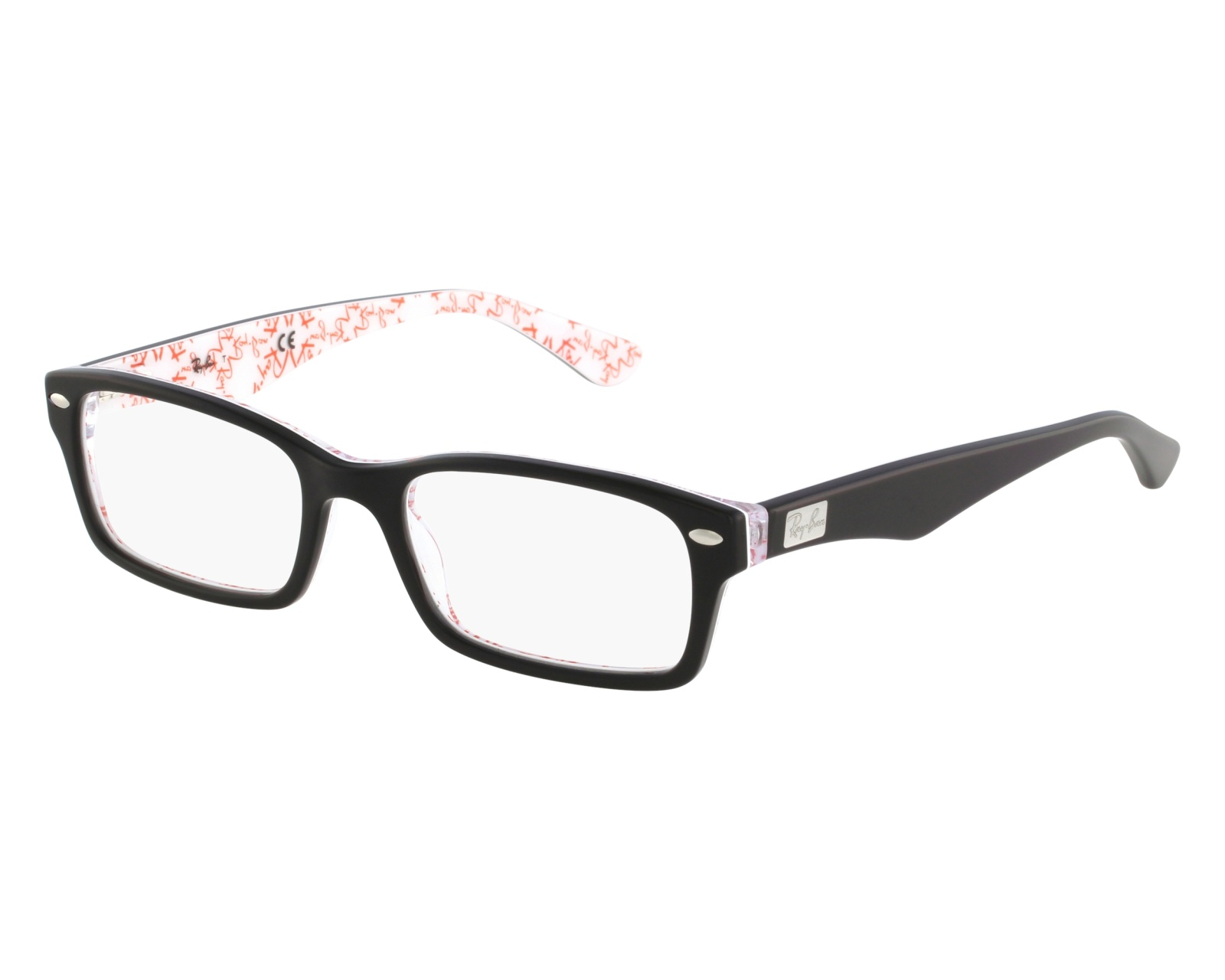 dd84f1420f eyeglasses Ray-Ban RX-5206 5014 52-18 Black front view