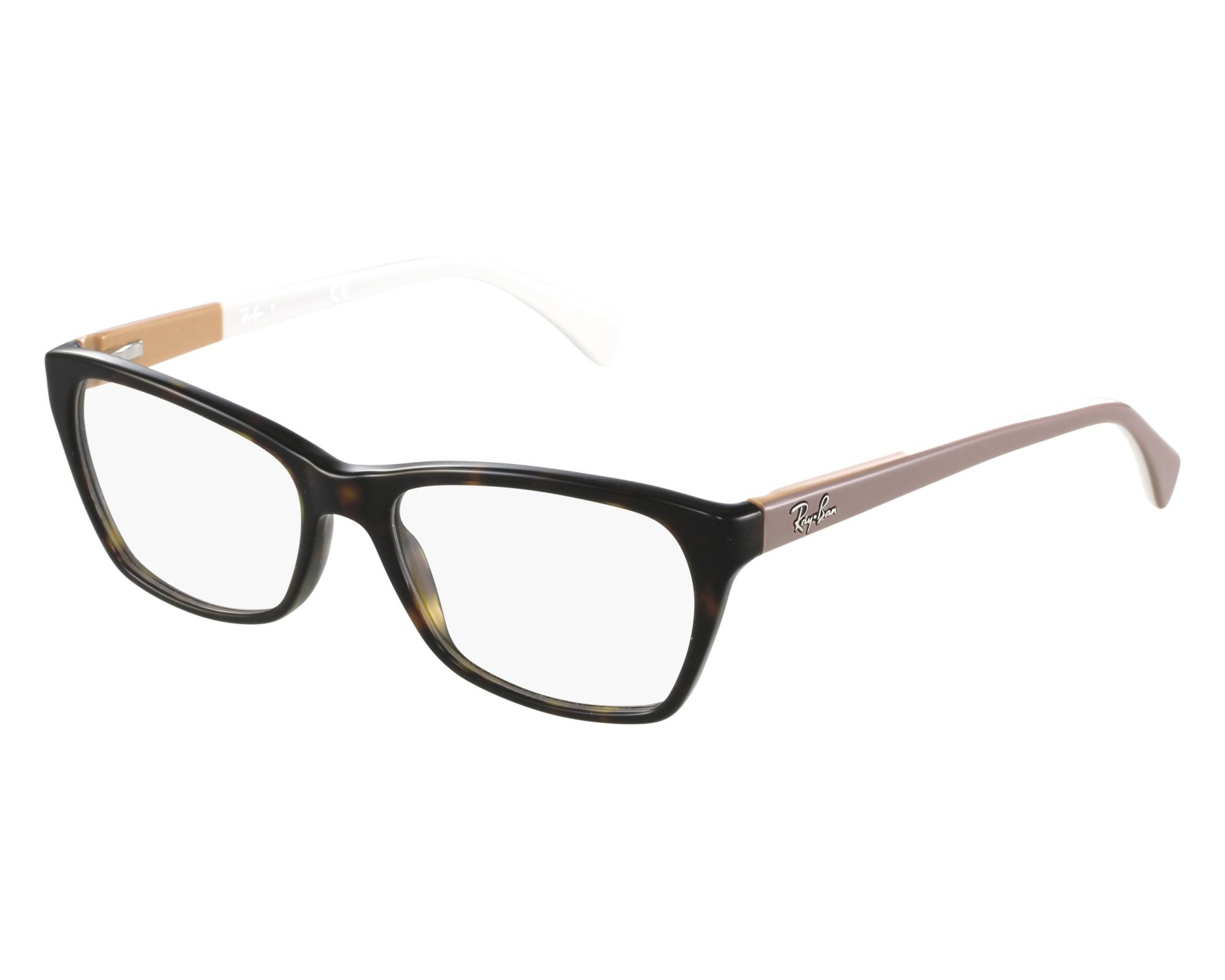 7000b74a85 eyeglasses Ray-Ban RX-5298 5549 53-17 Havana Taupe front view