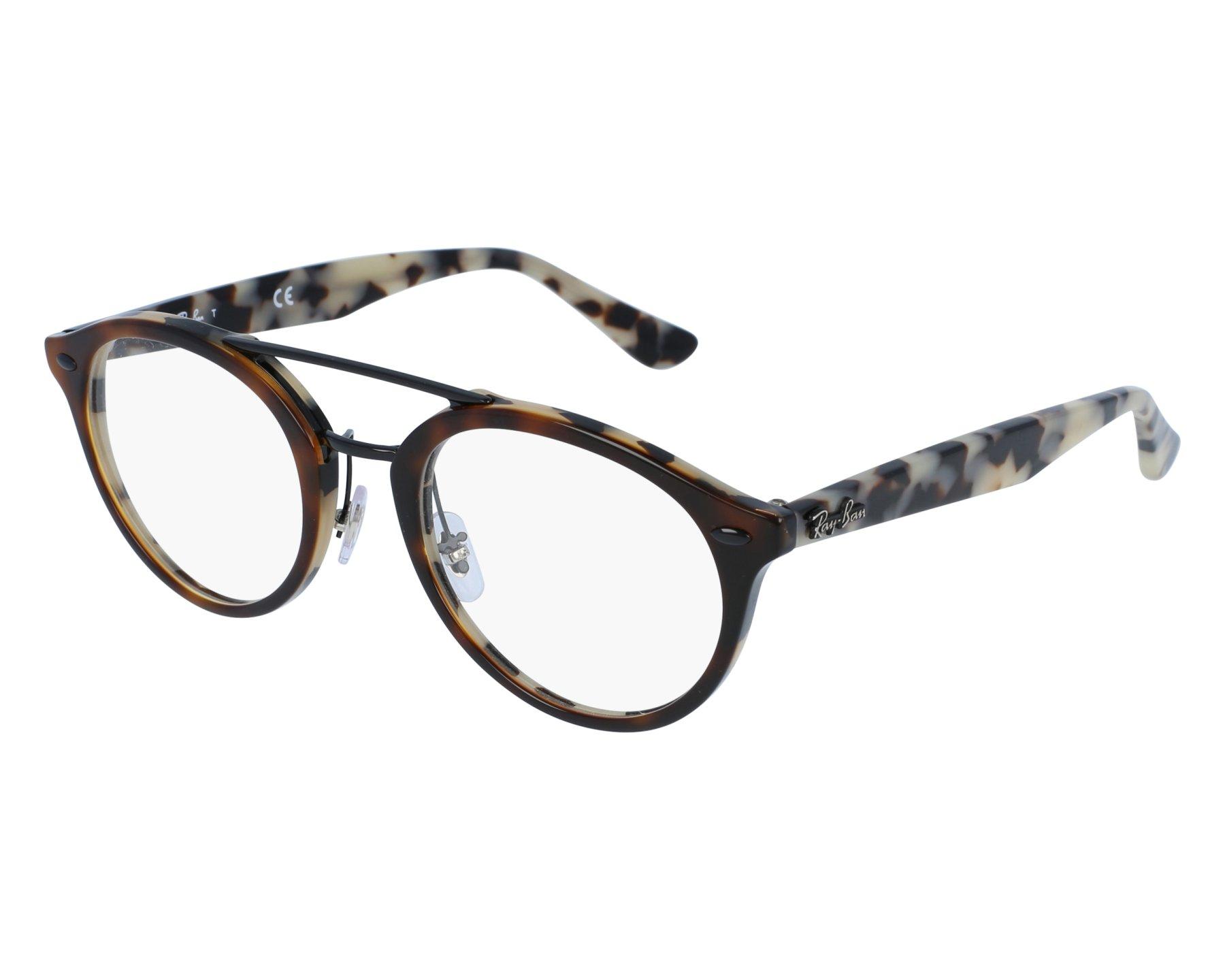9723a7e6304cea eyeglasses Ray-Ban RX-5354 5676 48-21 Havana Black front view
