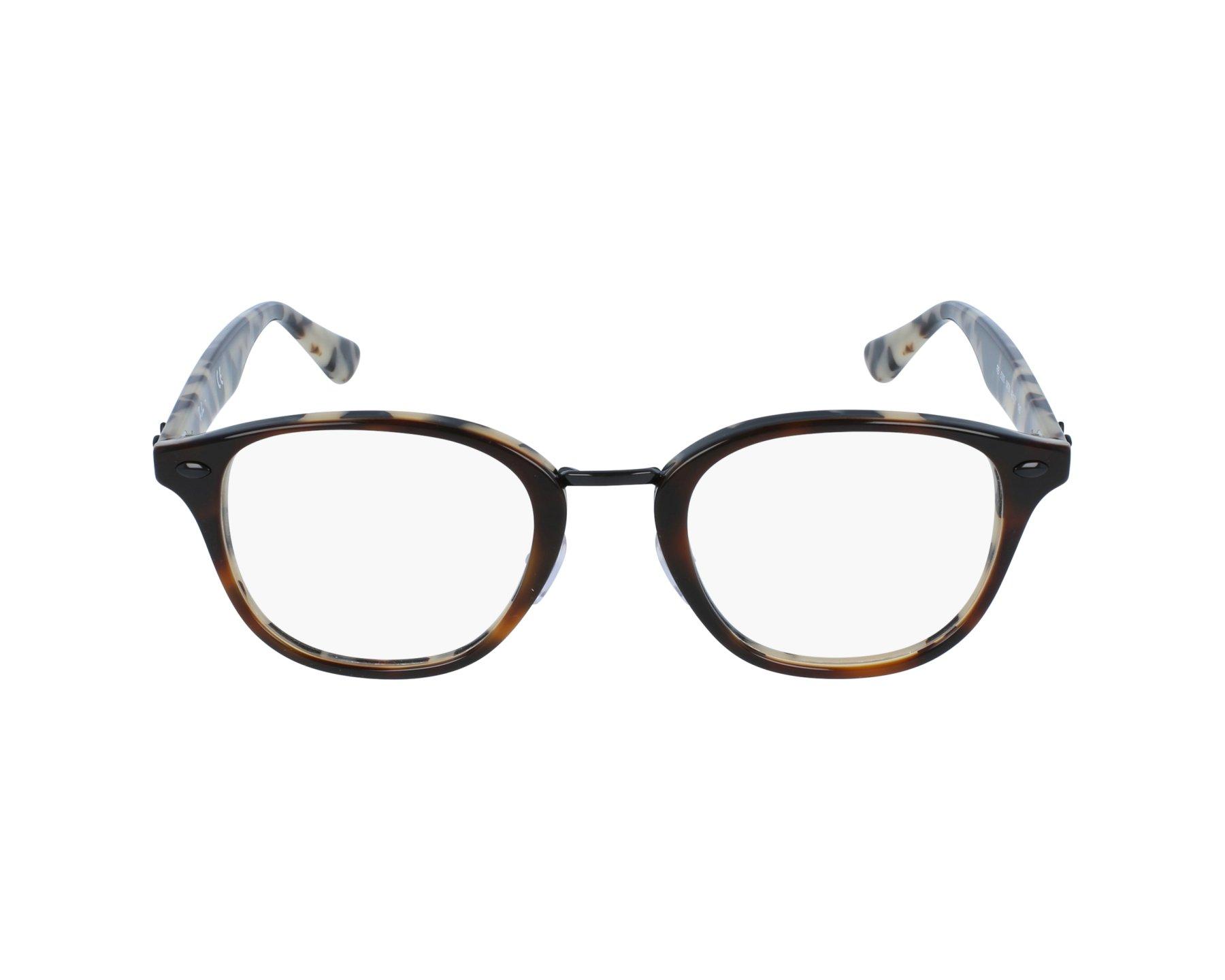 9e89b0092b eyeglasses Ray-Ban RX-5355 5676 50-21 Brown Brown profile view