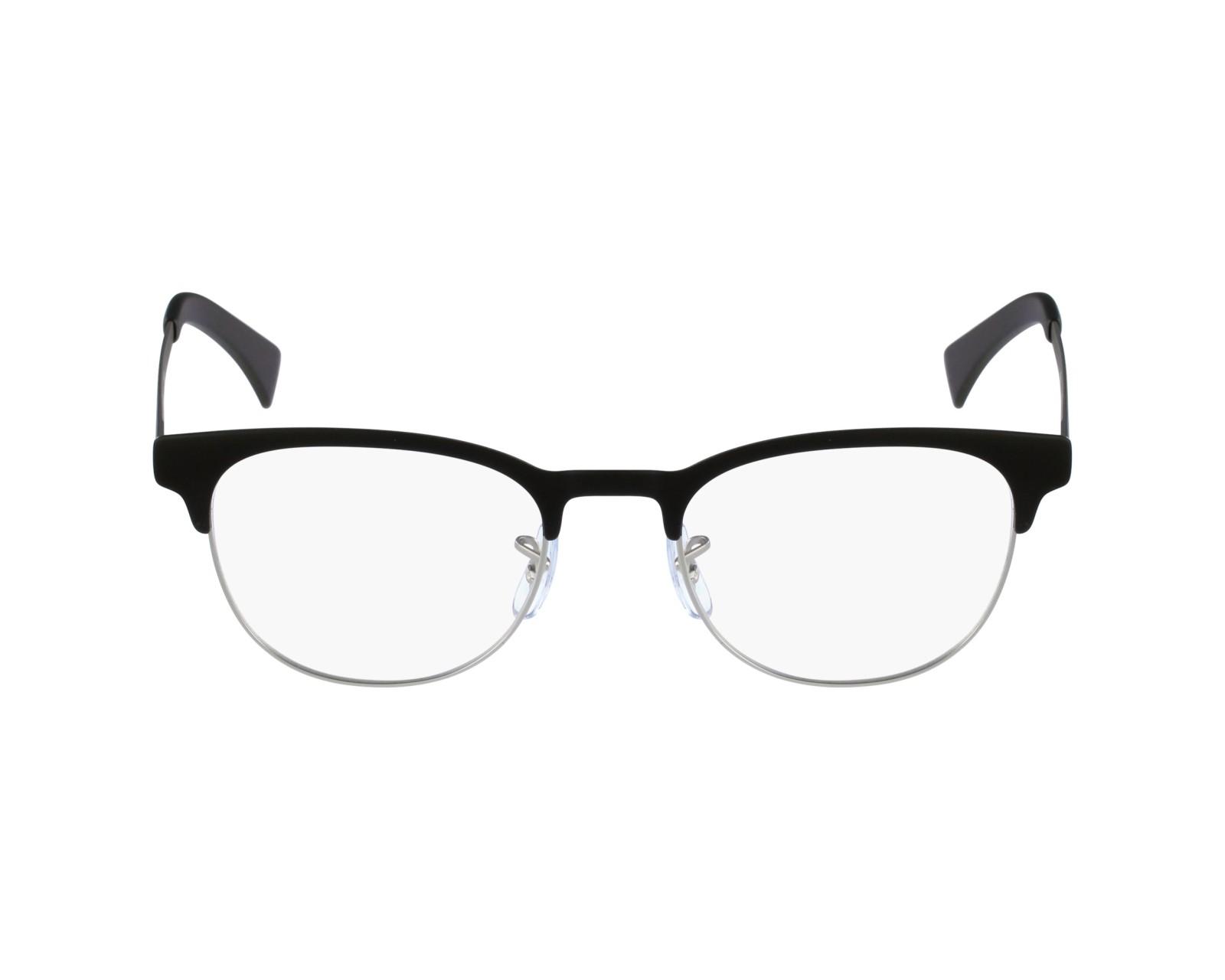 8a081c420a eyeglasses Ray-Ban RX-6317 2832 49-20 Black Silver profile view