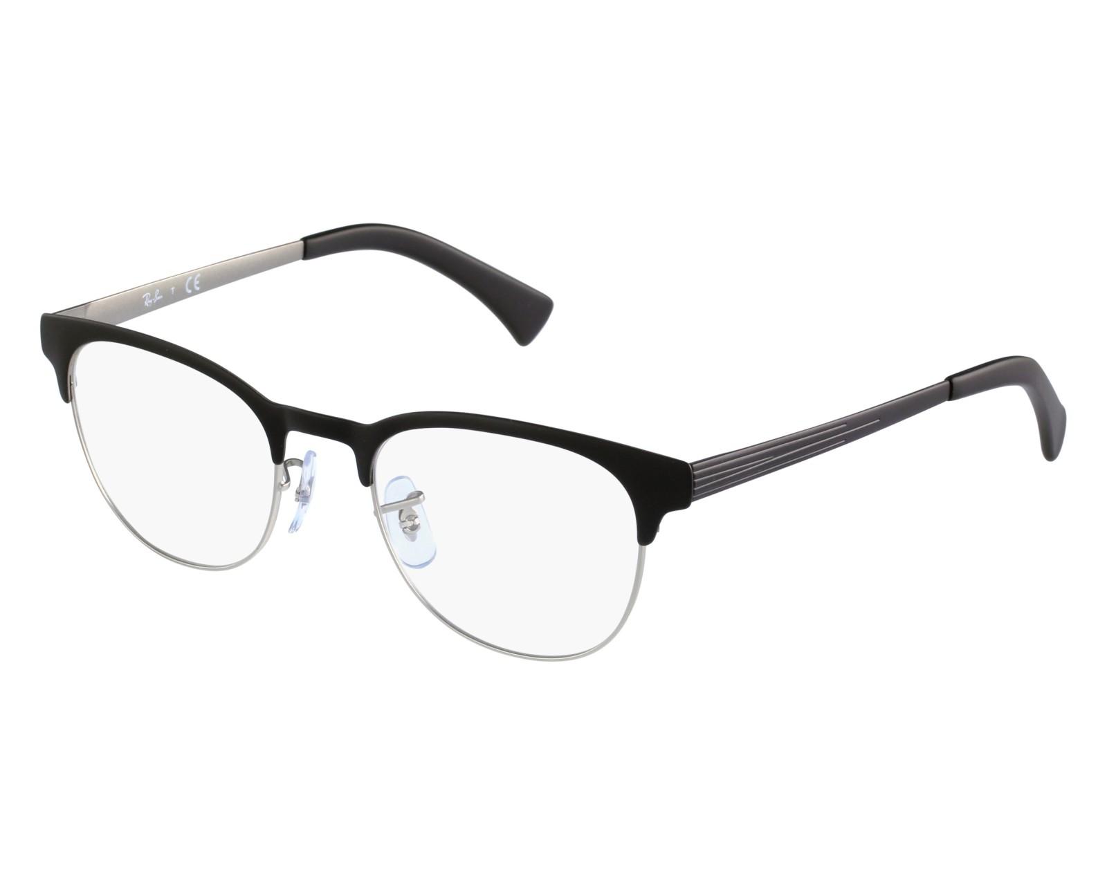 a3a6325de5 eyeglasses Ray-Ban RX-6317 2832 49-20 Black Silver front view