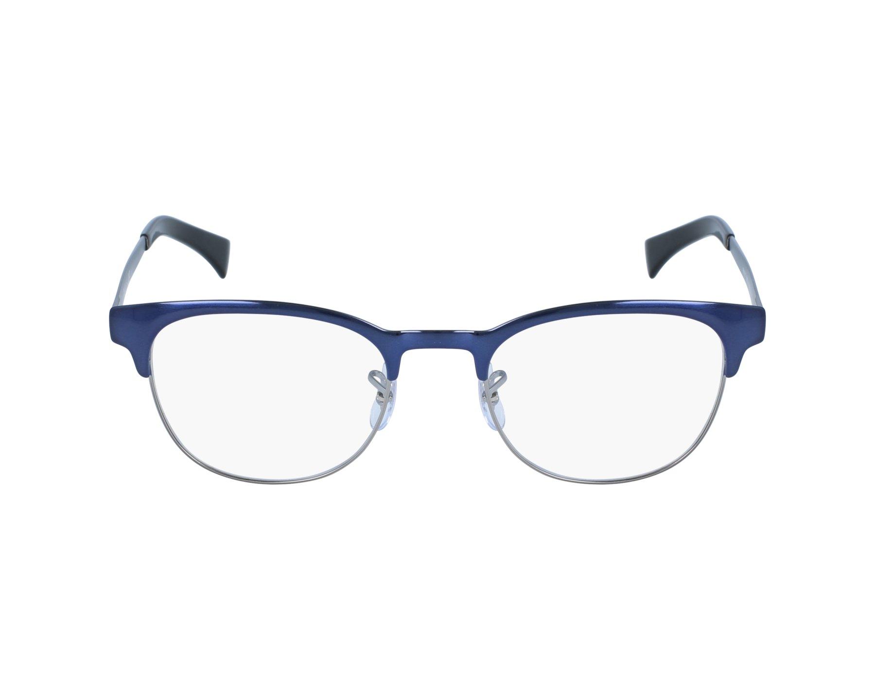 099f82825fbb eyeglasses Ray-Ban RX-6317 2863 49-20 Blue Silver profile view