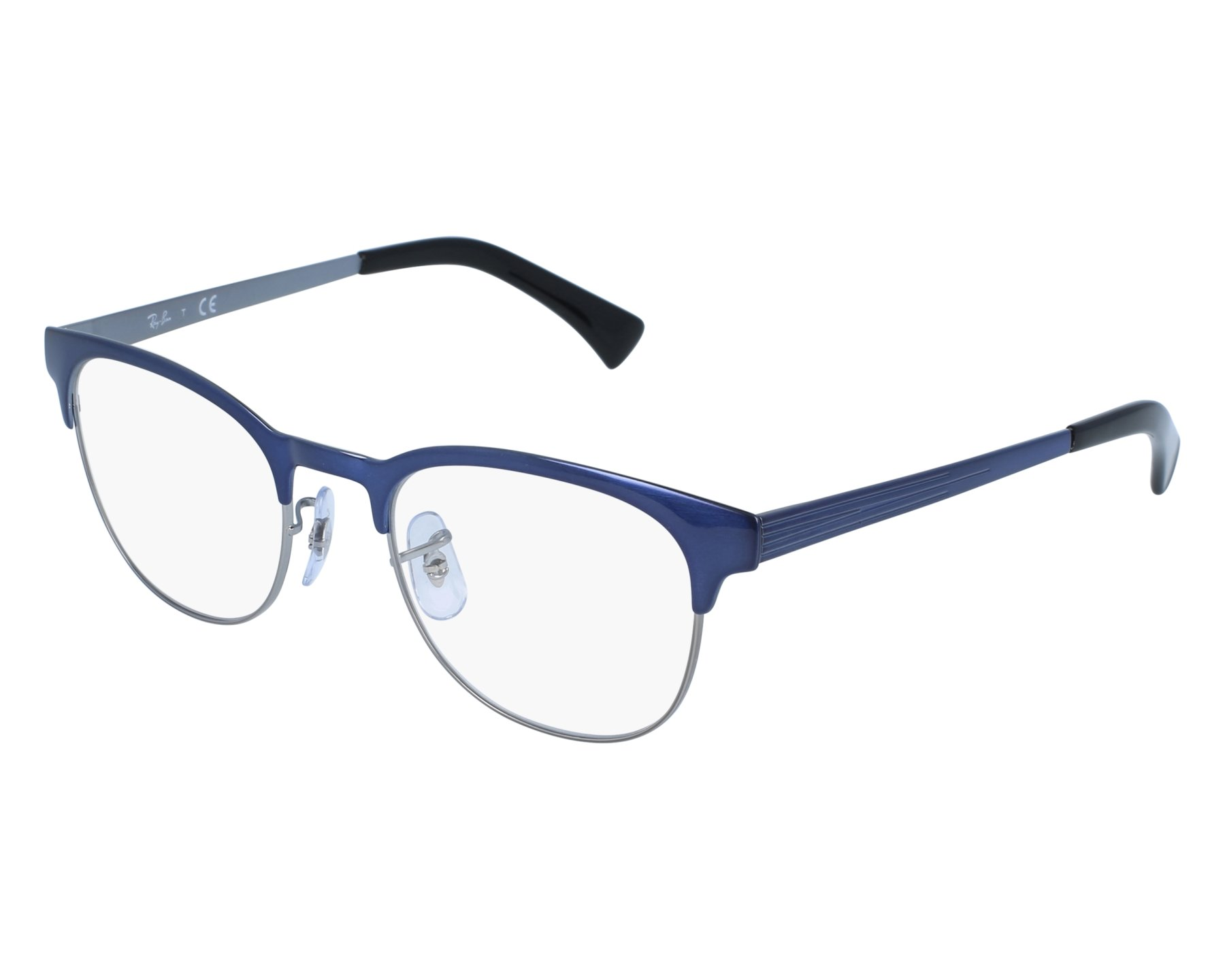 2bf9647ab4 eyeglasses Ray-Ban RX-6317 2863 49-20 Blue Silver front view