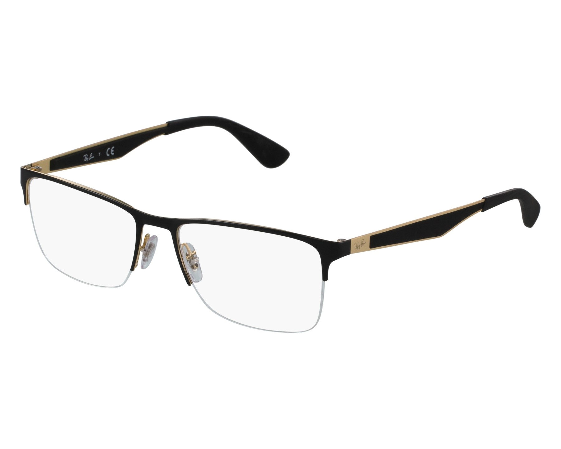 db87c7af96 eyeglasses Ray-Ban RX-6335 2890 - Black Gold front view