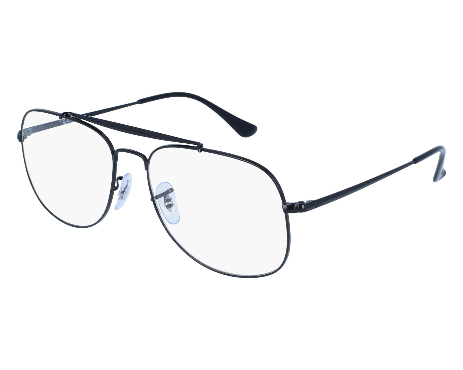 5db8ff4998 eyeglasses Ray-Ban RX-6389 2509 55-16 Black front view