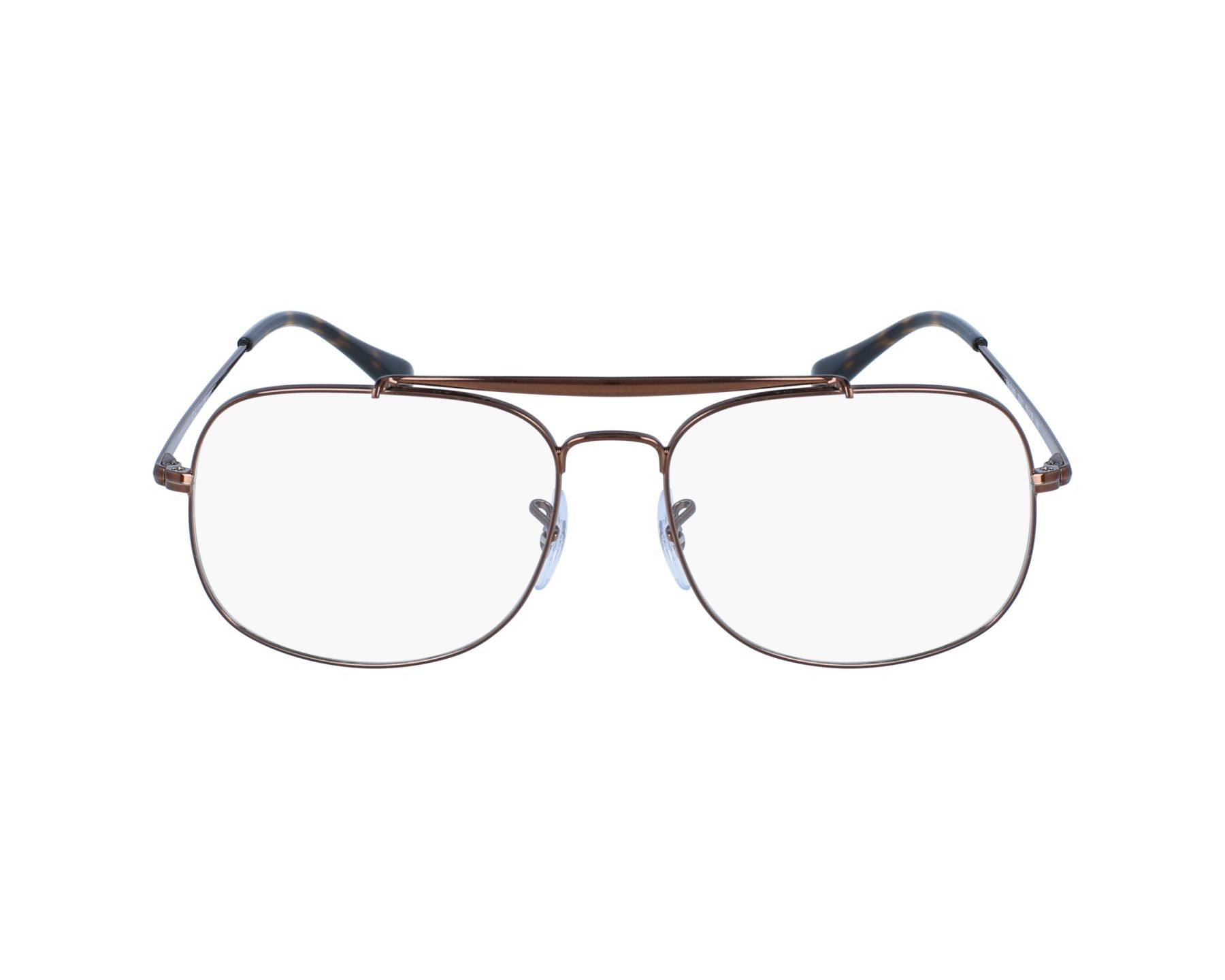 05216575ce eyeglasses Ray-Ban RX-6389 2531 55-16 Brown profile view