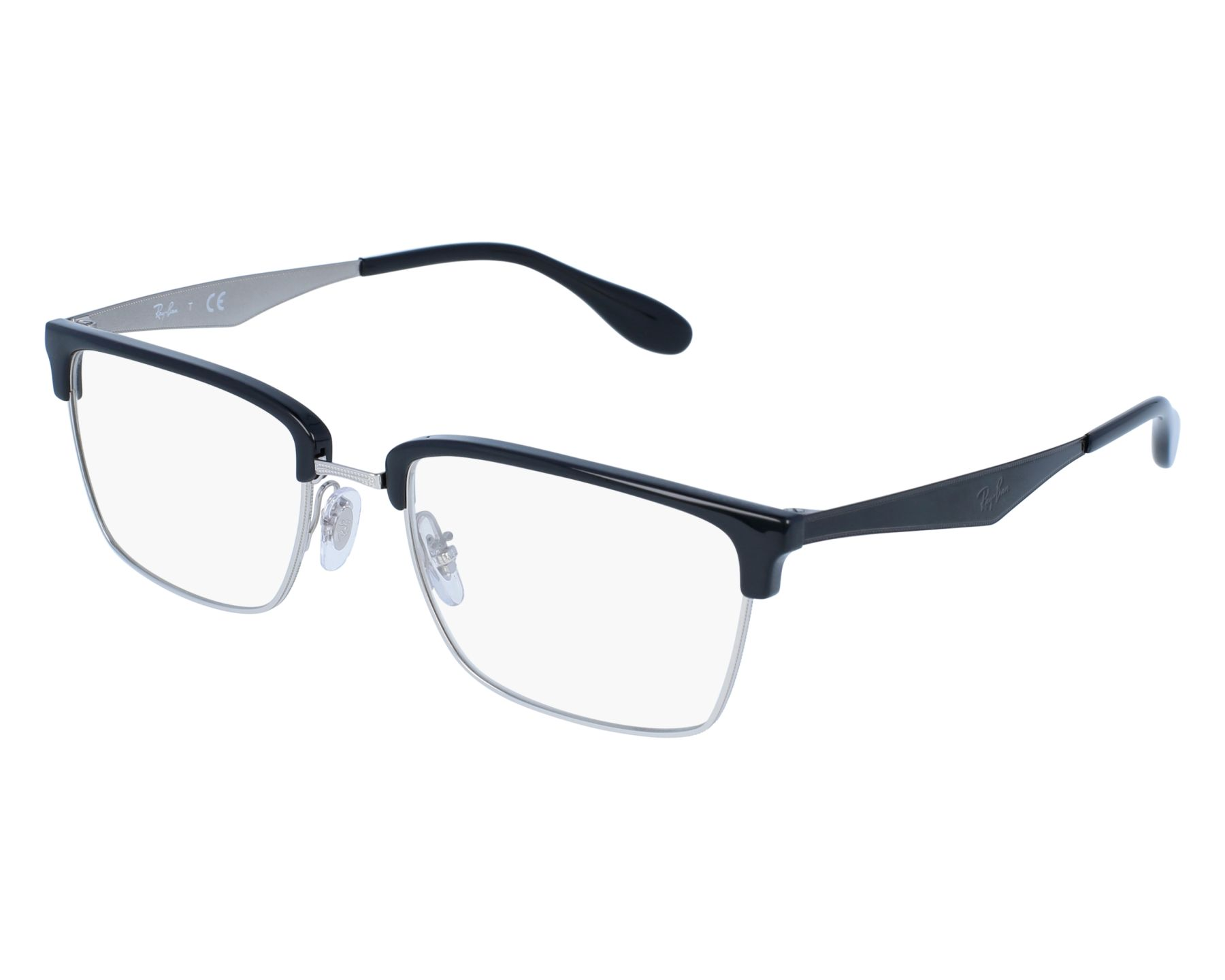 40f102305b7 eyeglasses Ray-Ban RX-6397 2932 52-19 Silver Black front view