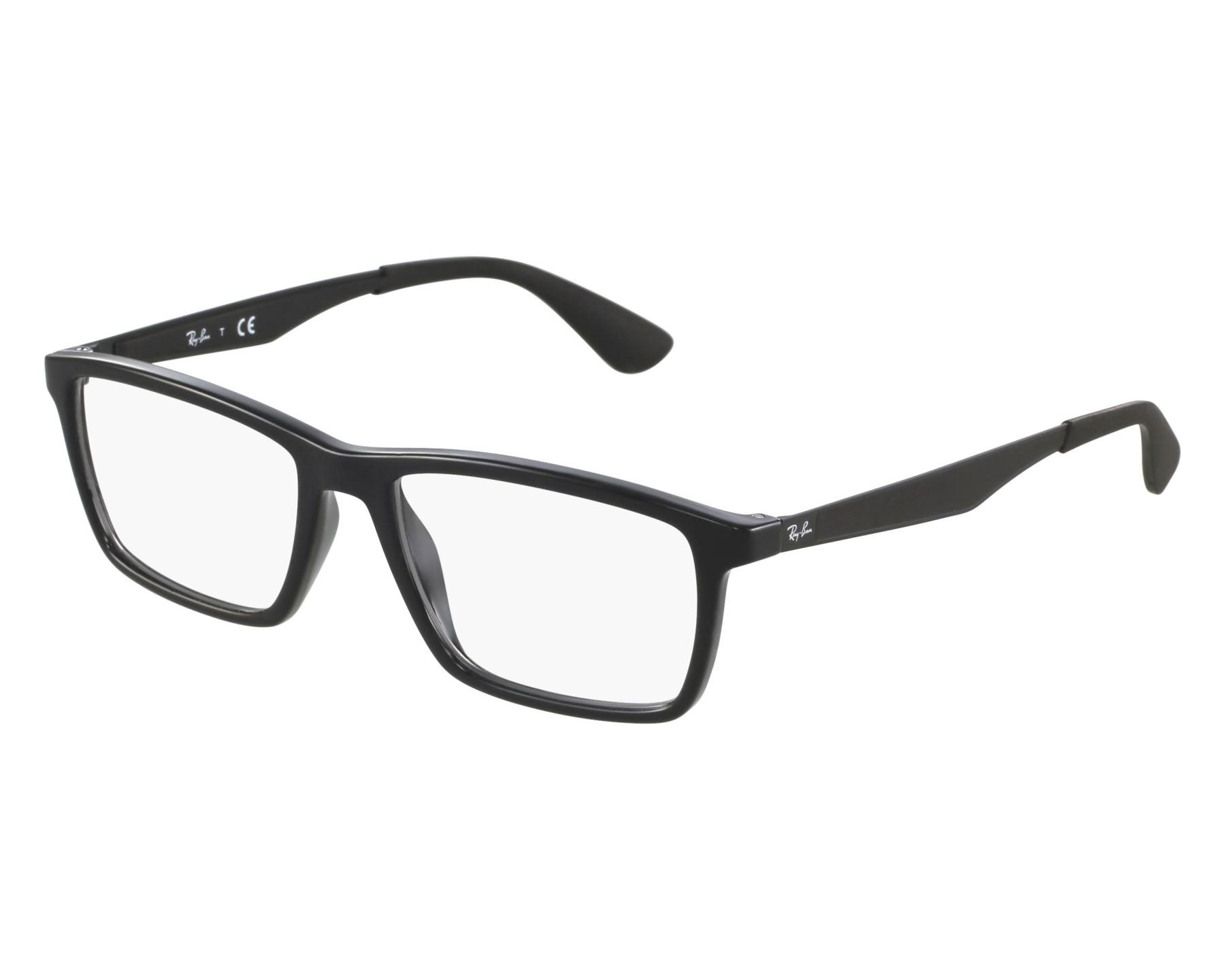17dfc5026b eyeglasses Ray-Ban RX-7056 2000 53-17 Black Black front view