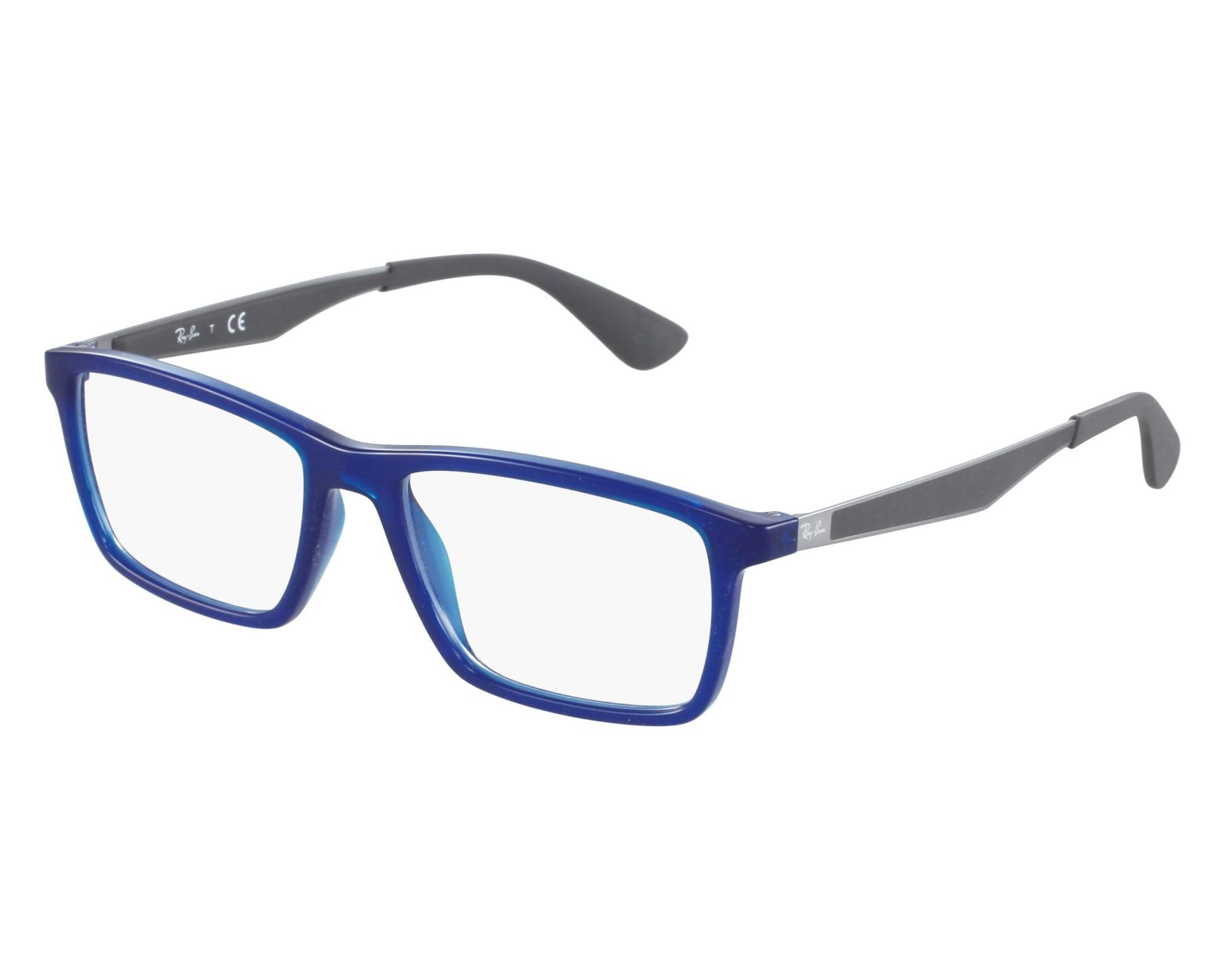 6abbc7b5ac eyeglasses Ray-Ban RX-7056 5393 55-17 Blue Grey front view