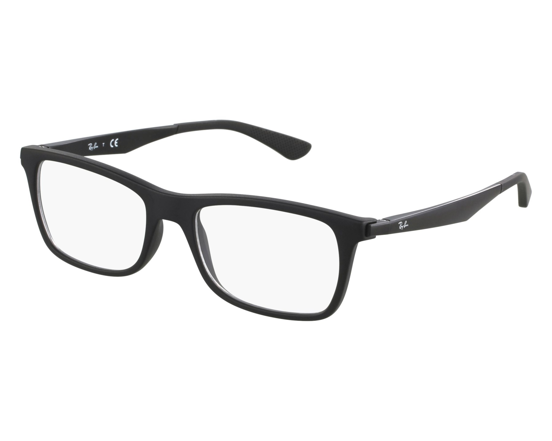 a7e010cd44 eyeglasses Ray-Ban RX-7062 2077 53-18 Black front view