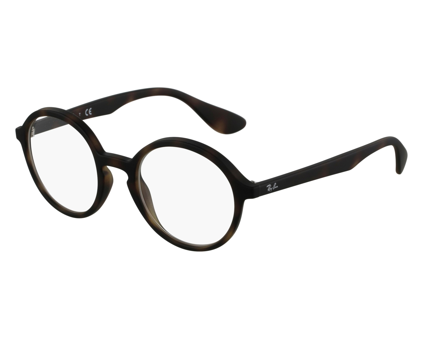 eyeglasses Ray-Ban RX-7075 5365 47-20 Havana front view 541cb7c7eeccd