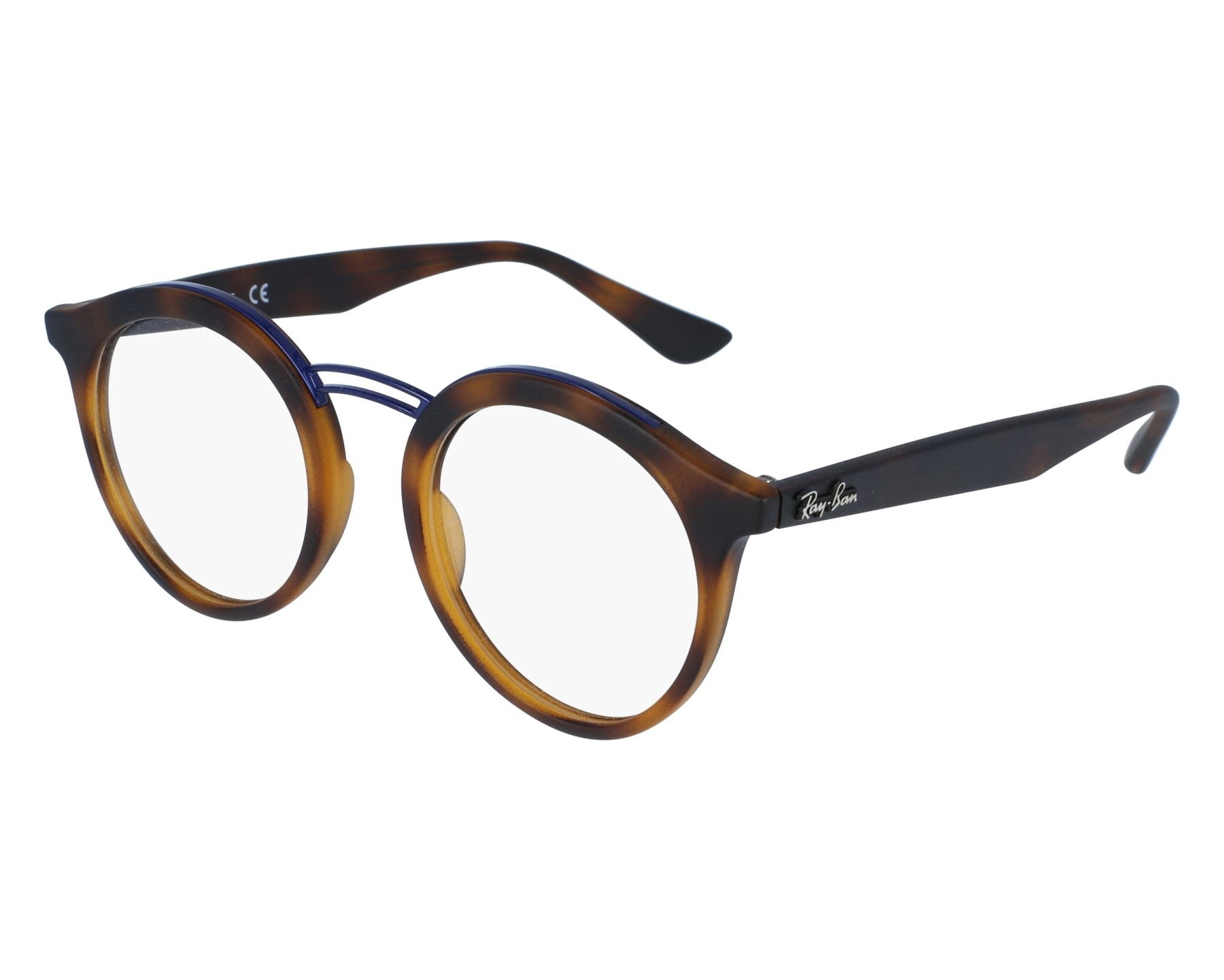 e9c84a35bb1 eyeglasses Ray-Ban RX-7110 5692 - Havana Blue denim front view