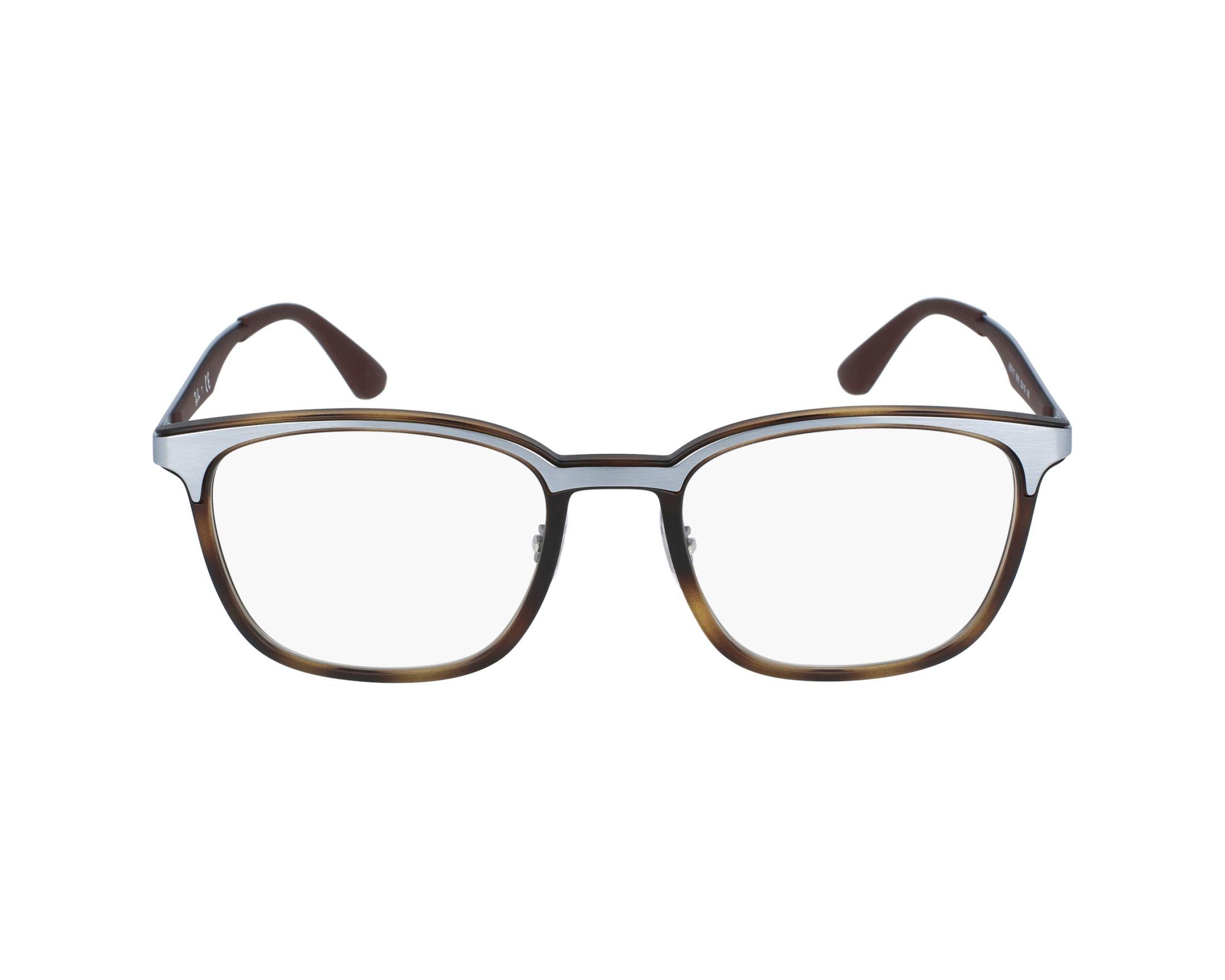 aeb6dff959 eyeglasses Ray-Ban RX-7117 8016 52-19 Havana Brown profile view
