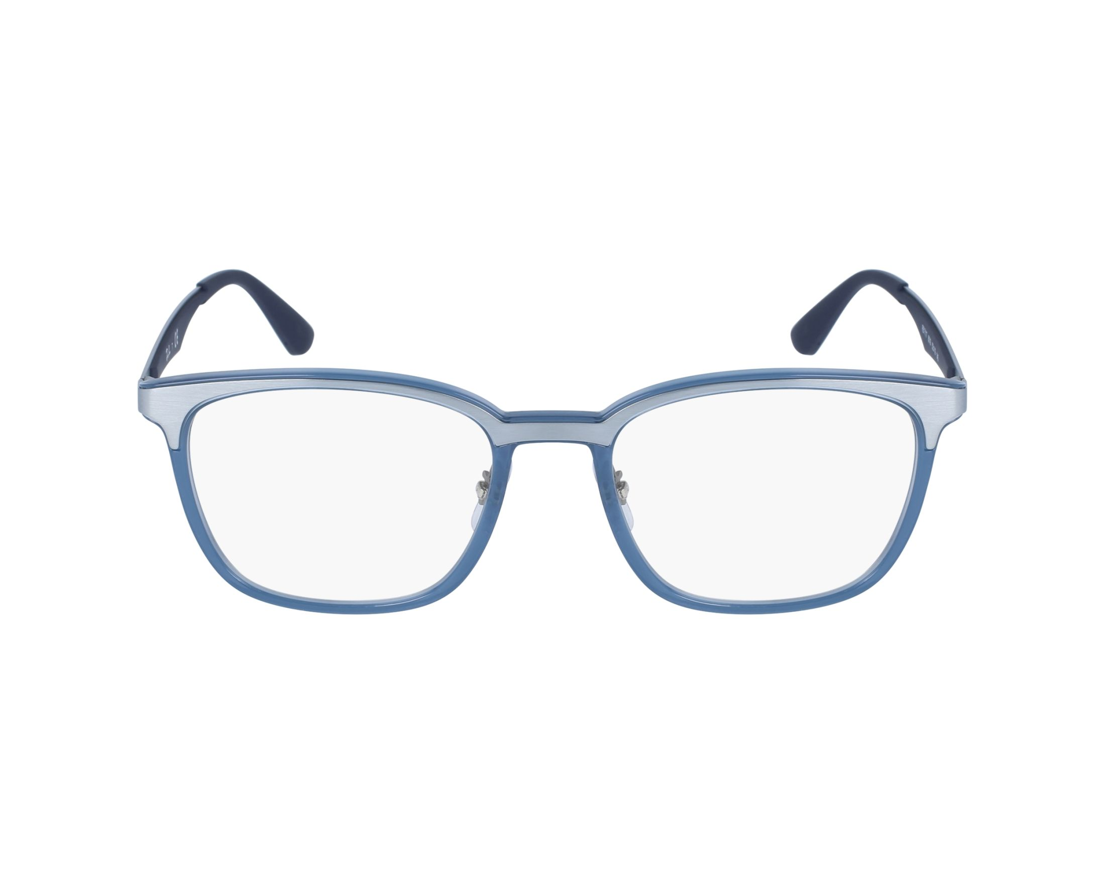 8ab35dc40291f eyeglasses Ray-Ban RX-7117 8019 - Silver Blue profile view