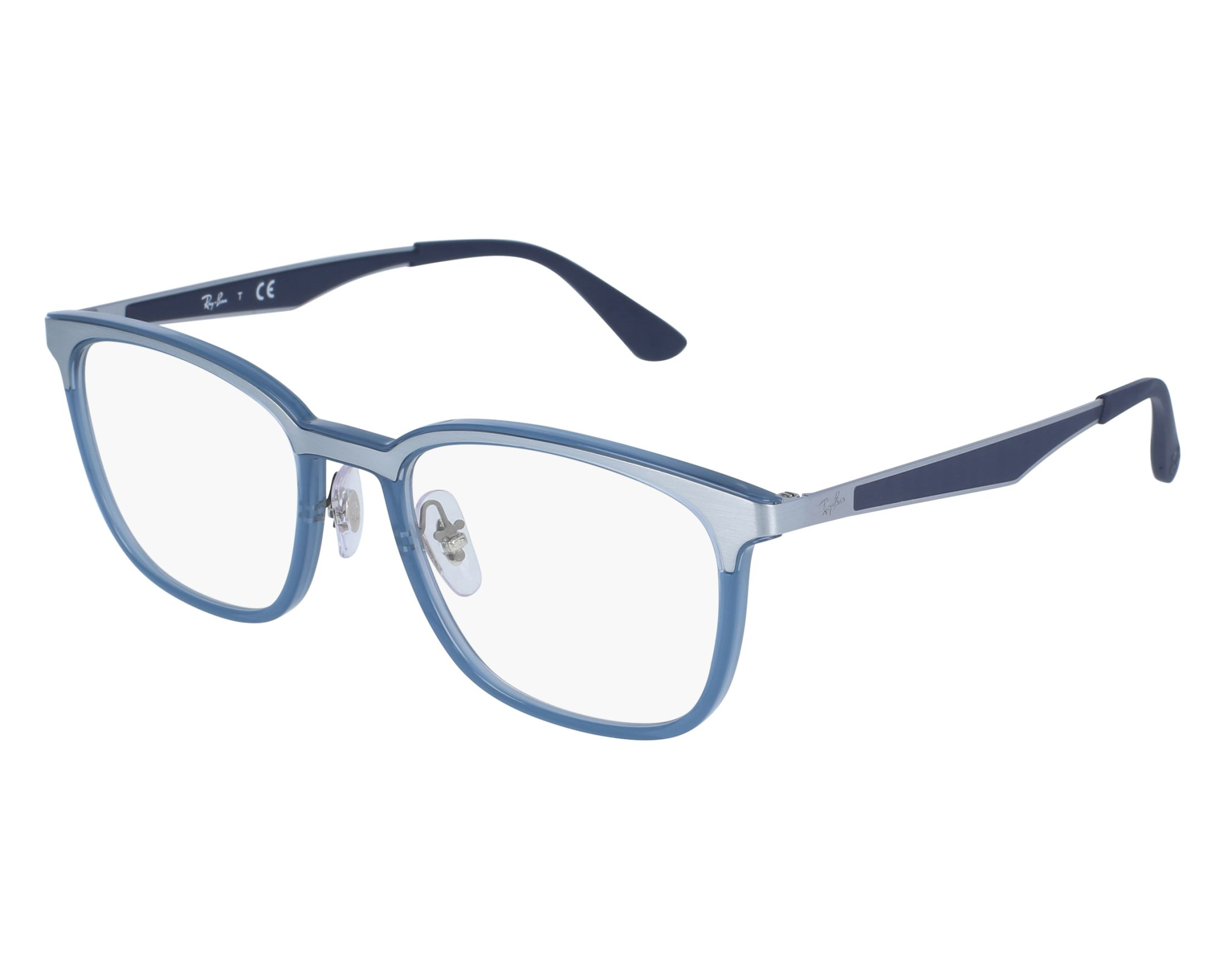d4cd604df68a0 eyeglasses Ray-Ban RX-7117 8019 - Silver Blue front view