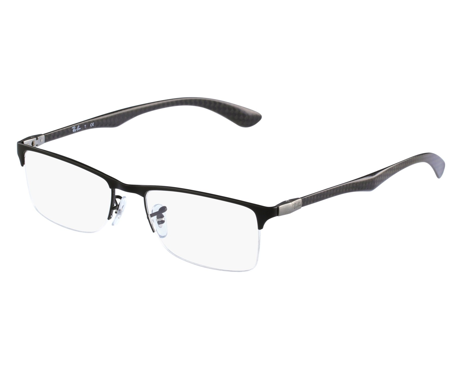 25267b63e50ad2 where can i buy eyeglasses ray ban rx 8413 2503 52 18 black front view 8f82f