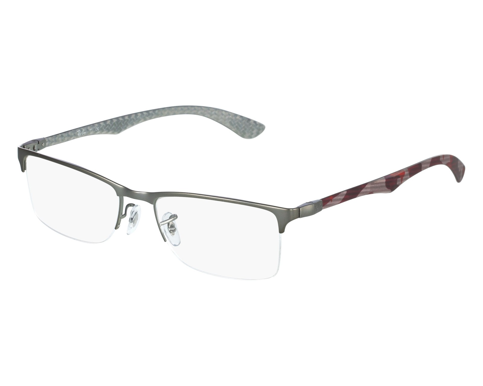 39fbebac161 ... real eyeglasses ray ban rx 8413 2852 54 18 anthracite red front view  18e22 c63b7