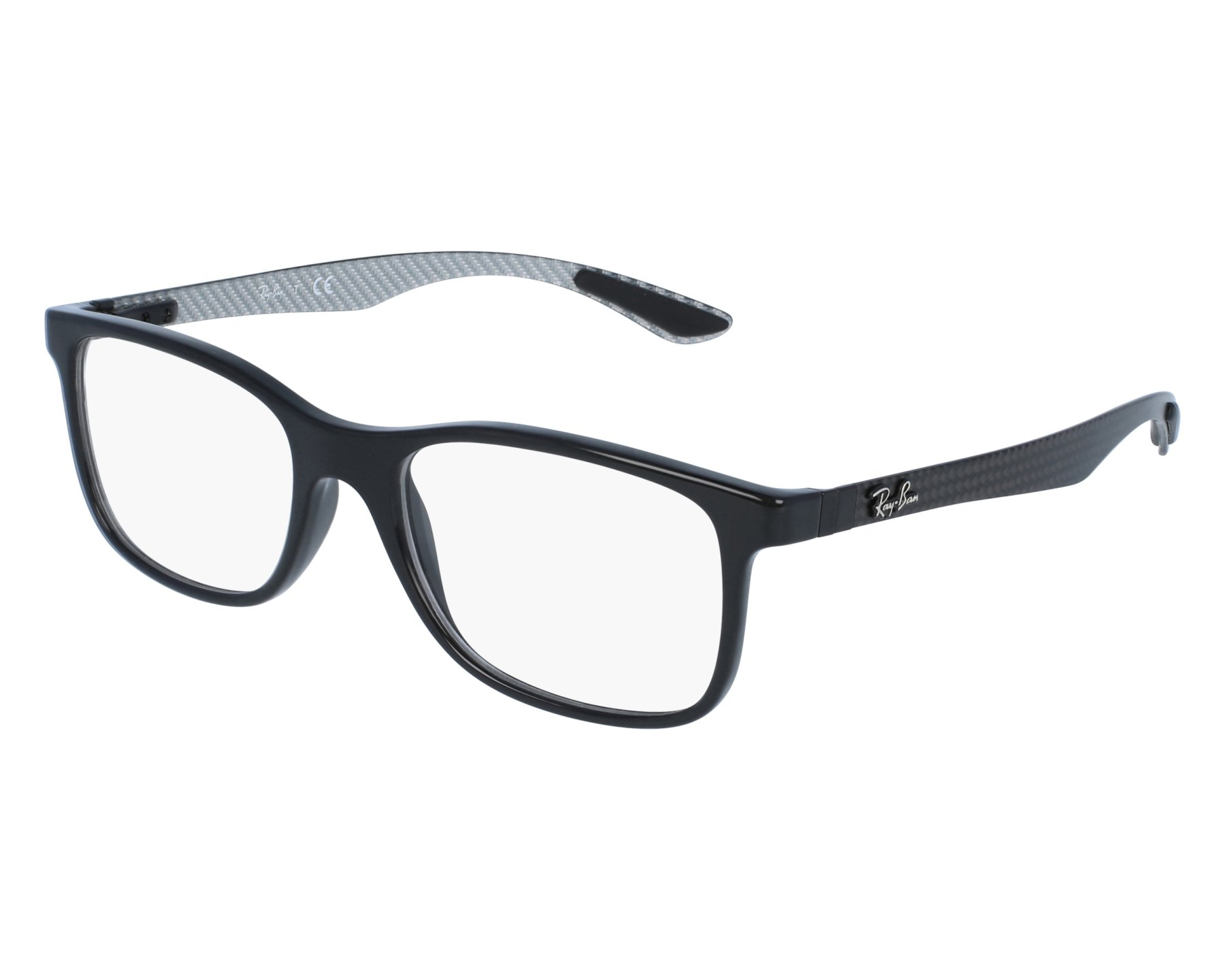 336eebcf6c eyeglasses Ray-Ban RX-8903 5681 55-18 Black Carbon front view