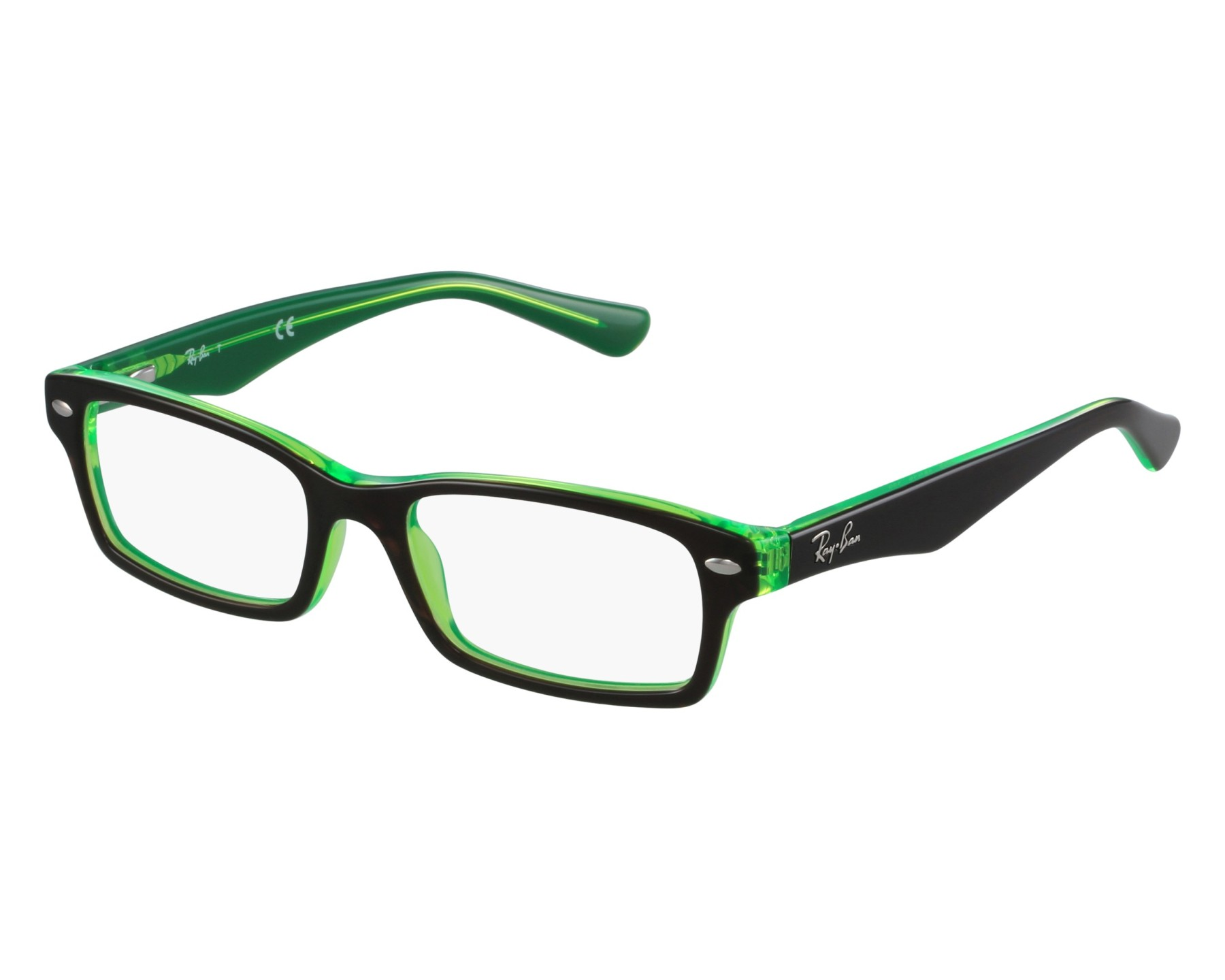 ac92dffee6 thumbnail eyeglasses Ray-Ban RY-1530 3665 - Brown Green front view