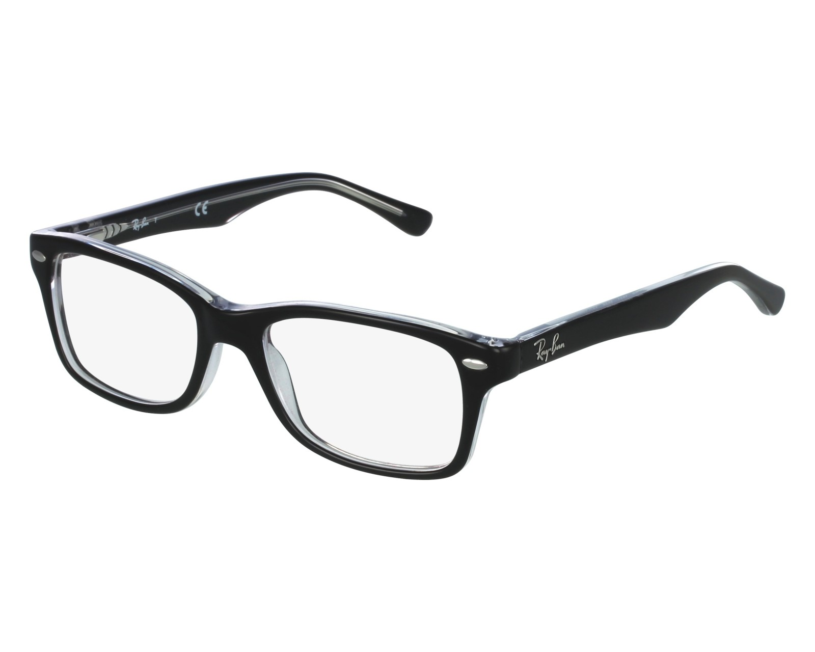 f7781c81e52 eyeglasses Ray-Ban RY-1531 3529 48-16 Black Crystal front view