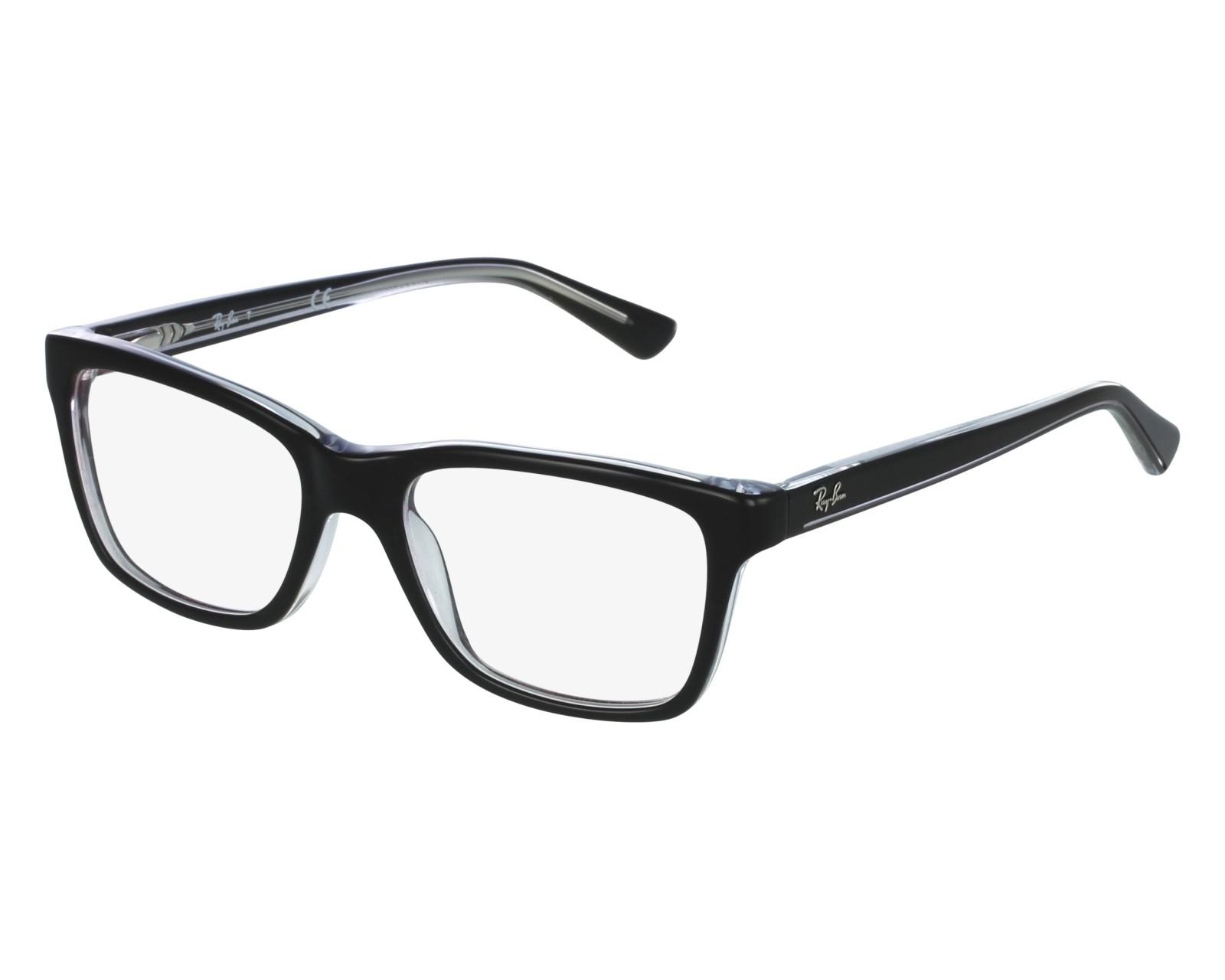 b7ee3b7a34 eyeglasses Ray-Ban RY-1536 3529 48-16 Black Crystal front view