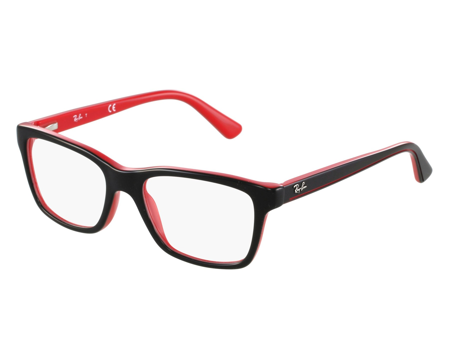 04f465fa664 eyeglasses Ray-Ban RY-1536 3573 48-16 Black Red front view