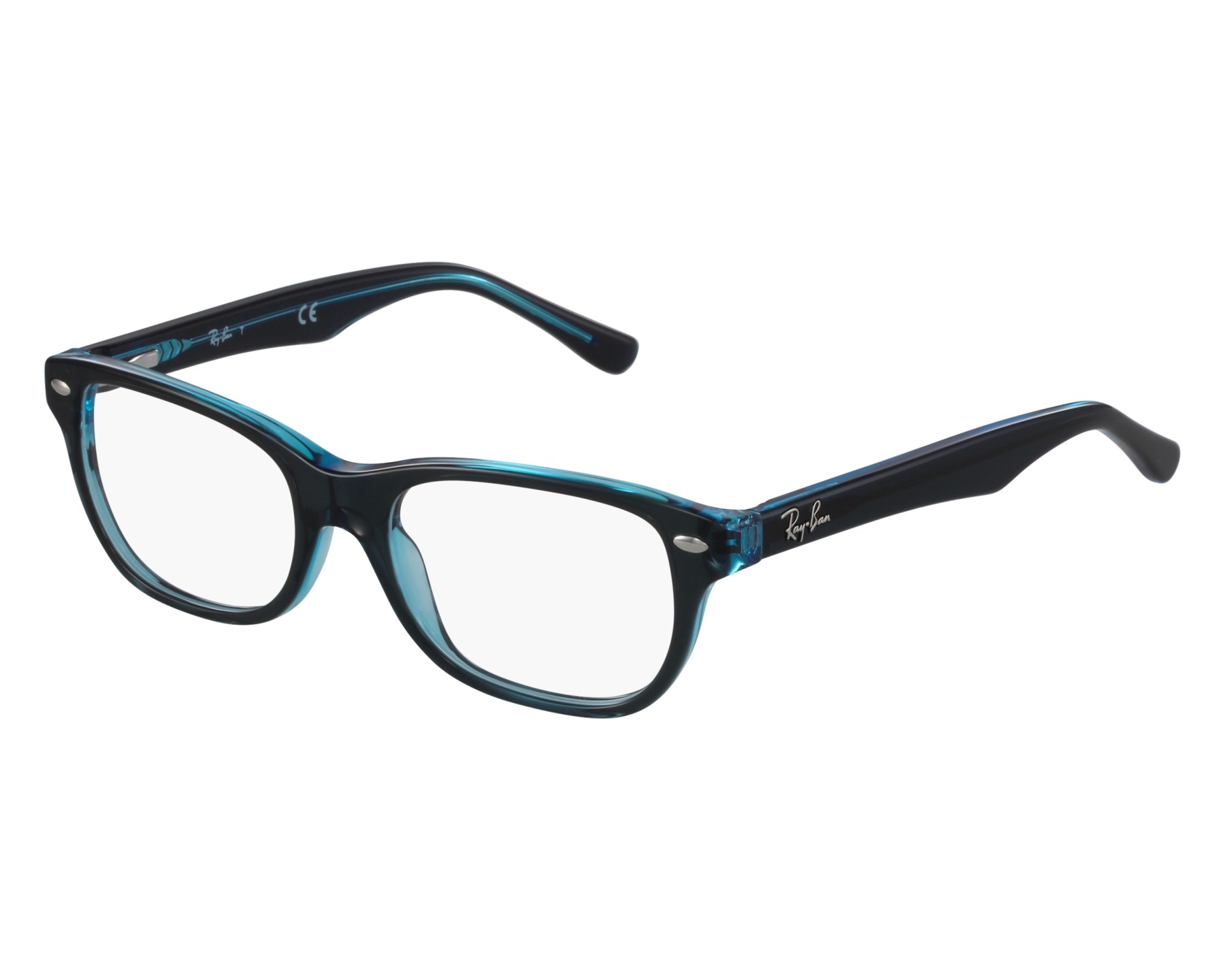 574e6a6d38 eyeglasses Ray-Ban RY-1555 3667 - Mint Blue front view