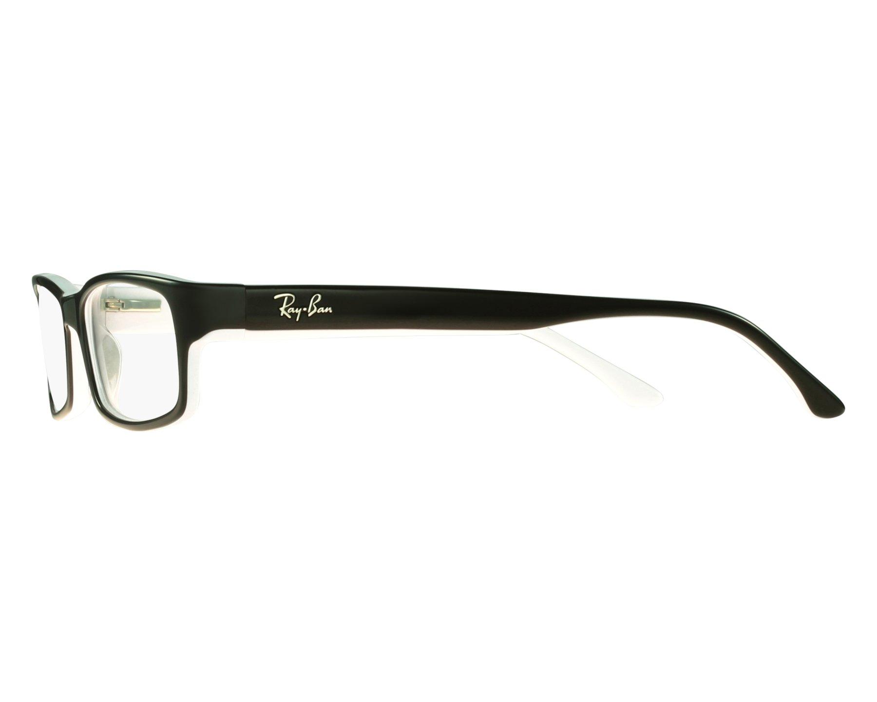 eyeglasses Ray-Ban RX-5114 2097 52-16 Black White front view edbf2a7563
