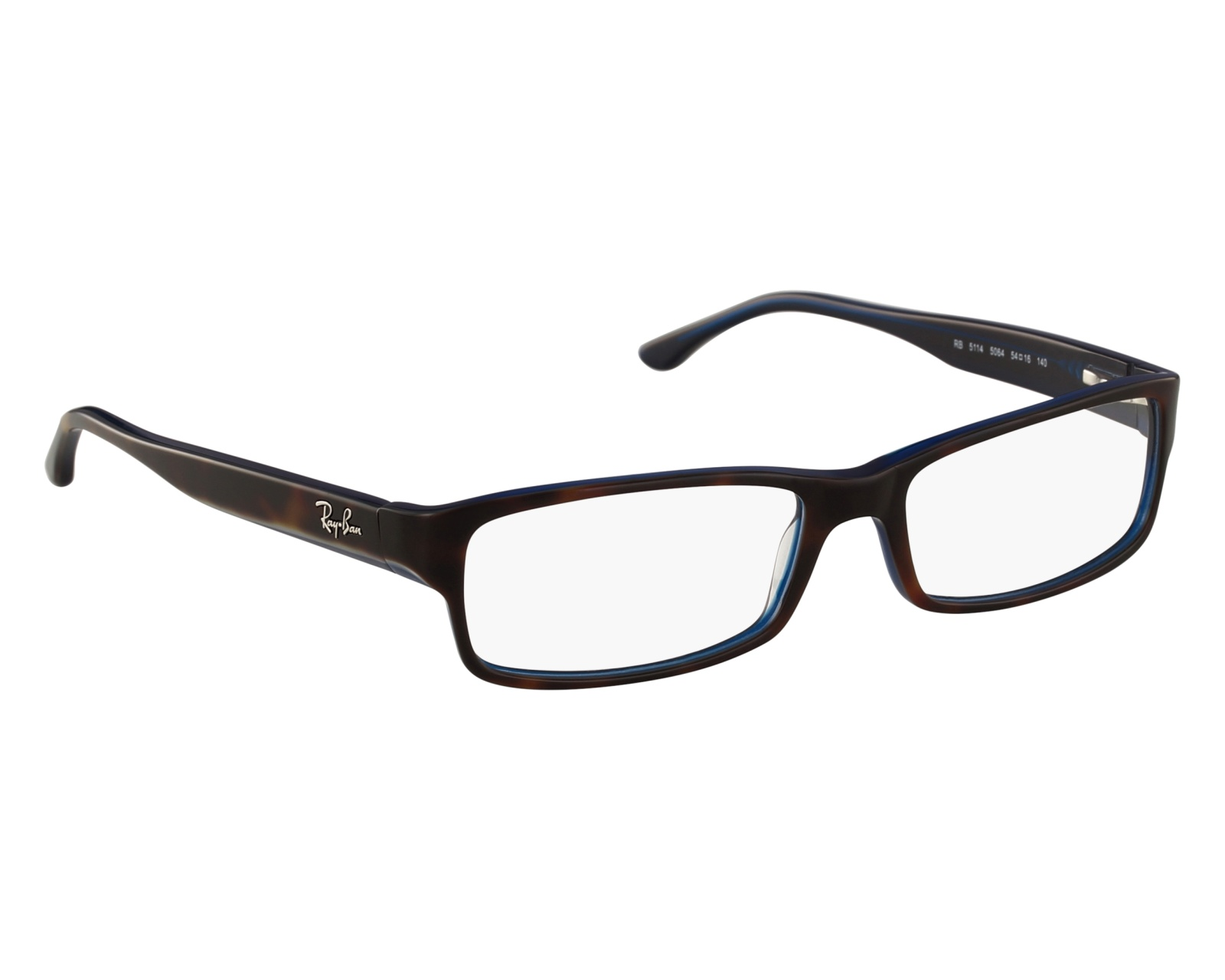 eyeglasses Ray-Ban RX-5114 5064 52-16 Havana Blue front view 7382ef676fa0