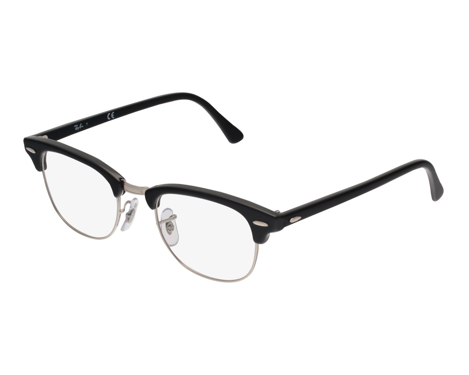 c52dfdff5eb eyeglasses Ray-Ban RX-5154 2000 49-21 Black Silver front view