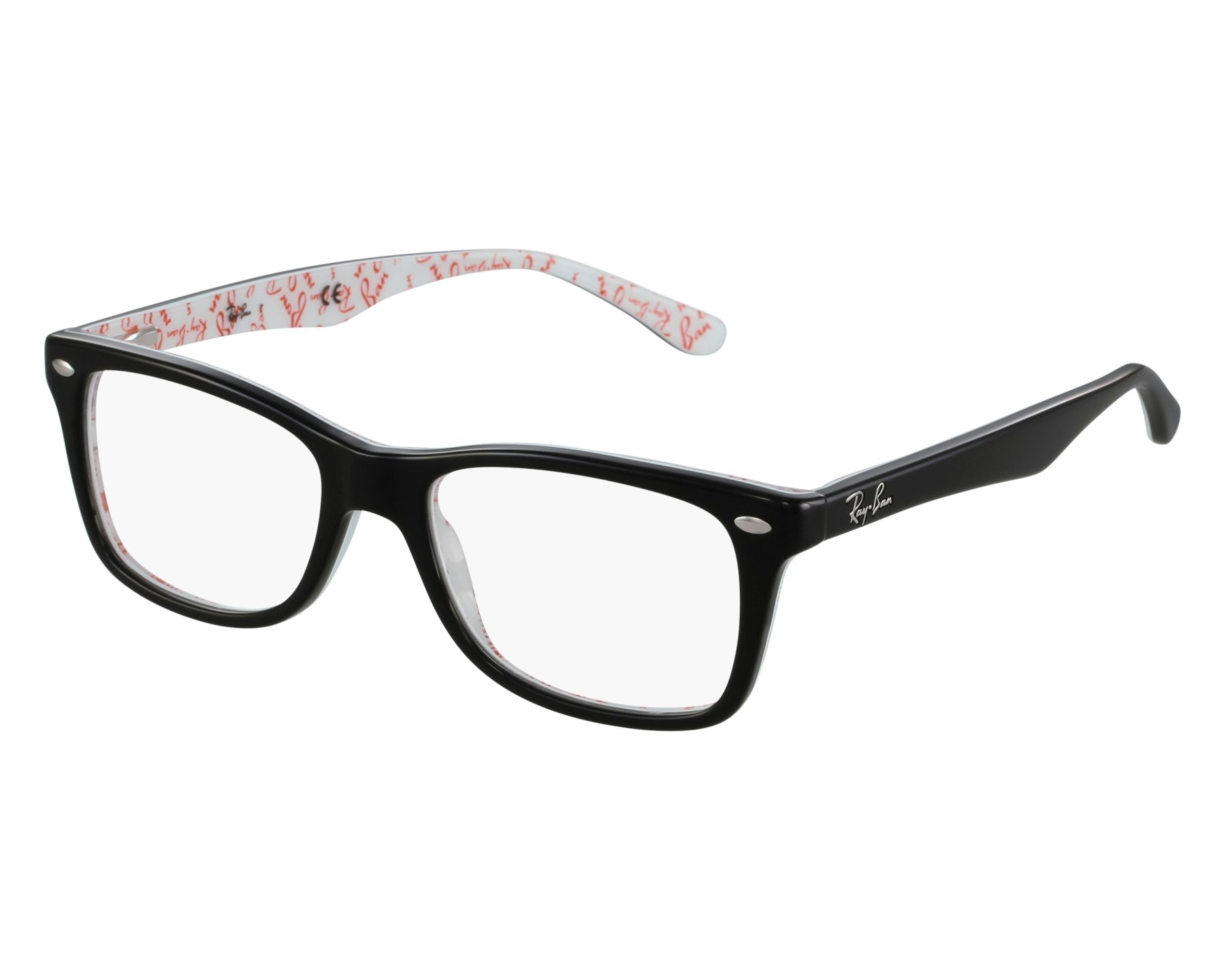 d4a2c7e5a6 eyeglasses Ray-Ban RX-5228 5014 50-17 Black front view