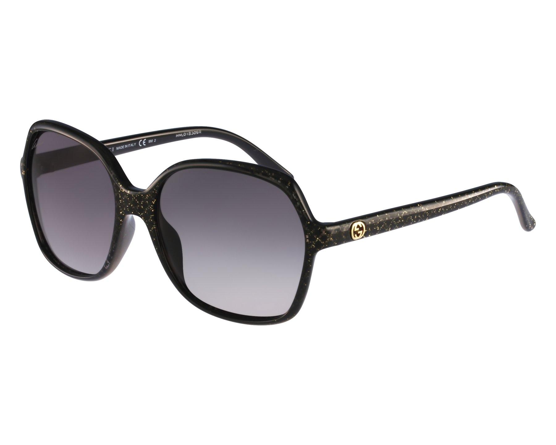 cfb923d15d7 thumbnail Sunglasses Gucci GG-3632-S DXF EU - Black front view
