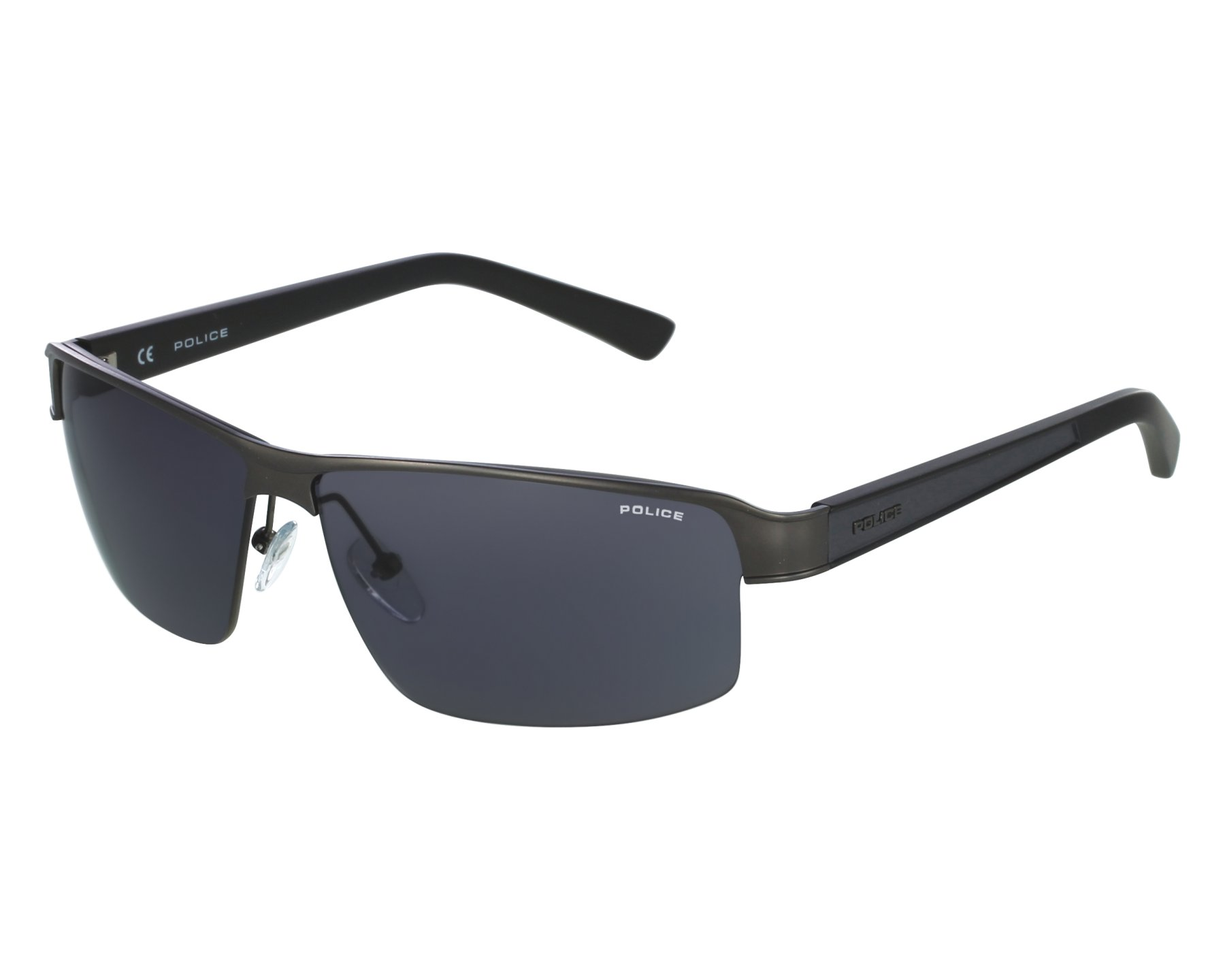 6340241941d Sunglasses Police S-8855 0627 - Grey front view