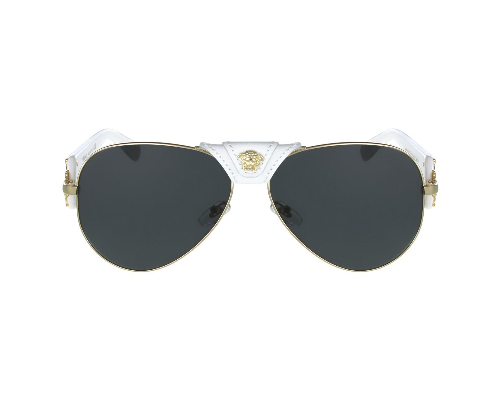 b246d52c0d736 Sunglasses Versace VE-2150-Q 1341 87 62-14 Gold White profile