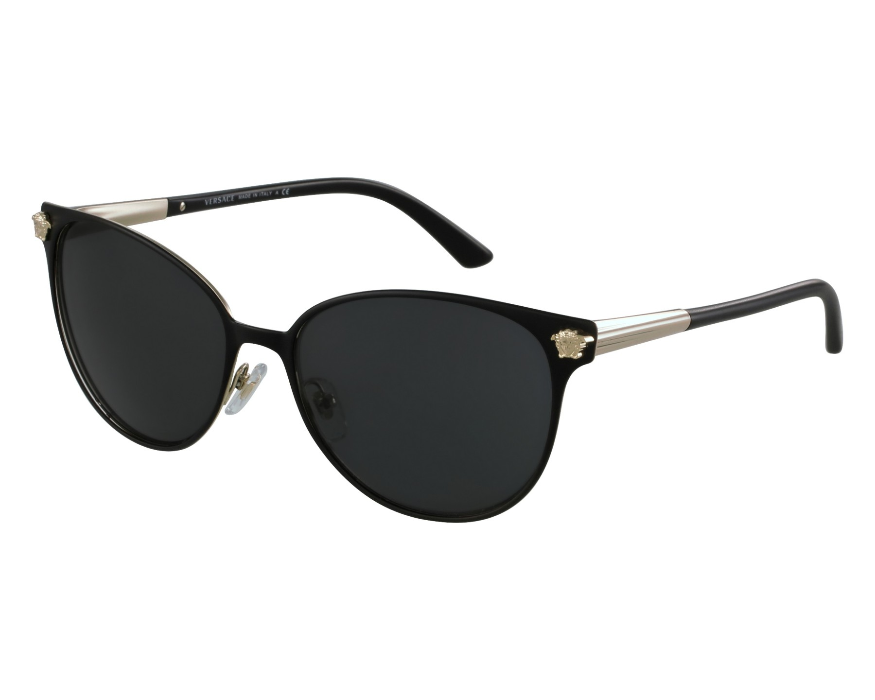 ea70db167842 Sunglasses Versace VE-2168 1377/87 57-16 Black Gold front view