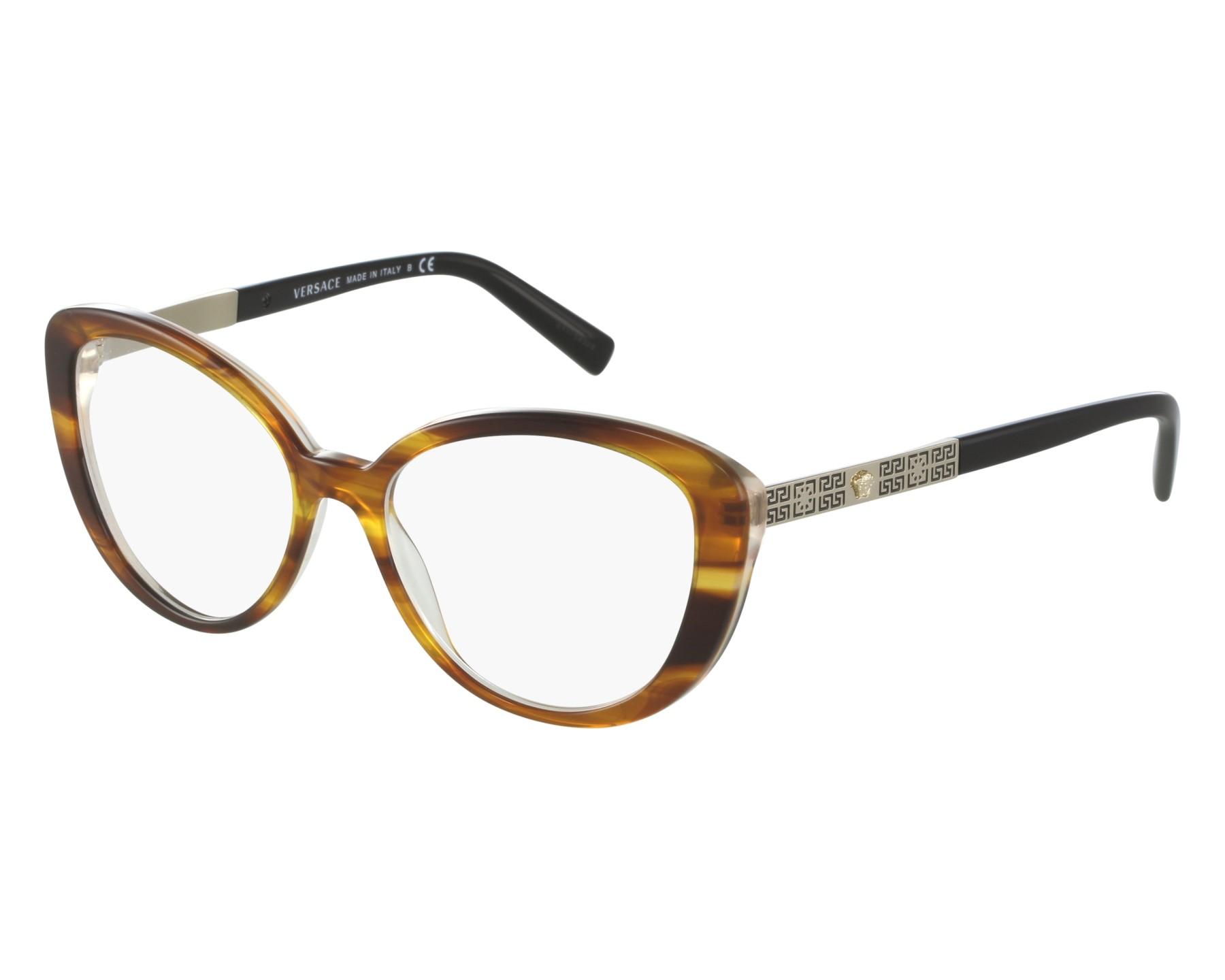 9e137de44c212 eyeglasses Versace VE-3229 5191 52-16 Havana Gold front view