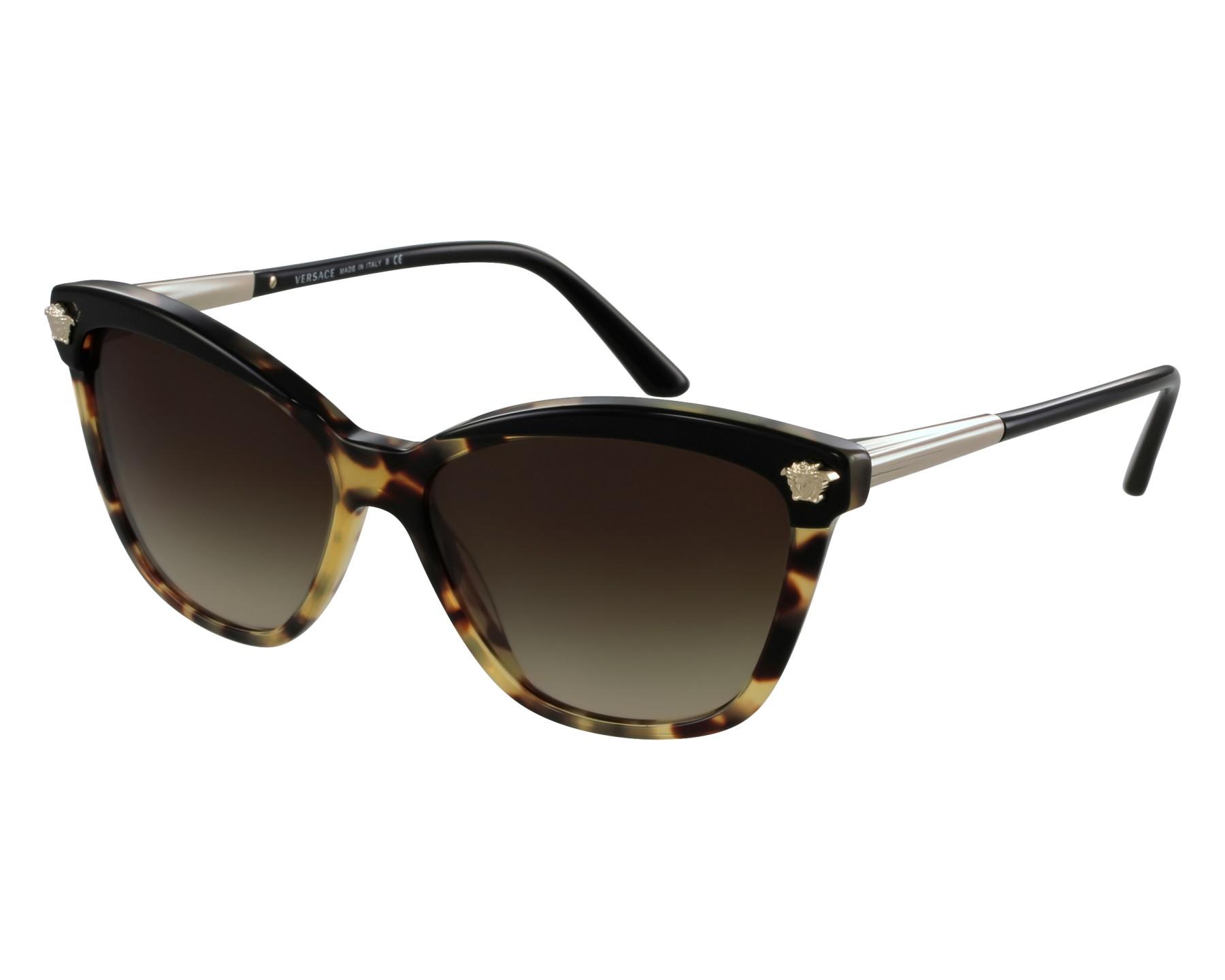 162fc9f65e56a Sunglasses Versace VE-4313 5177 13 - Havana Black front view