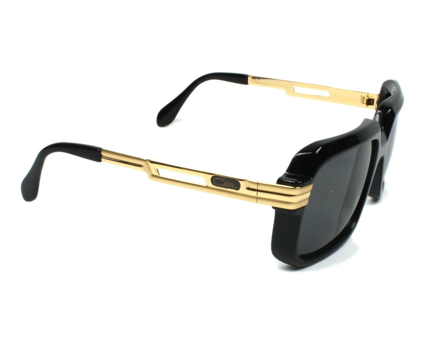 bbdb4902e46b Sunglasses Cazal 607-2-3 001 - Black Gold side view