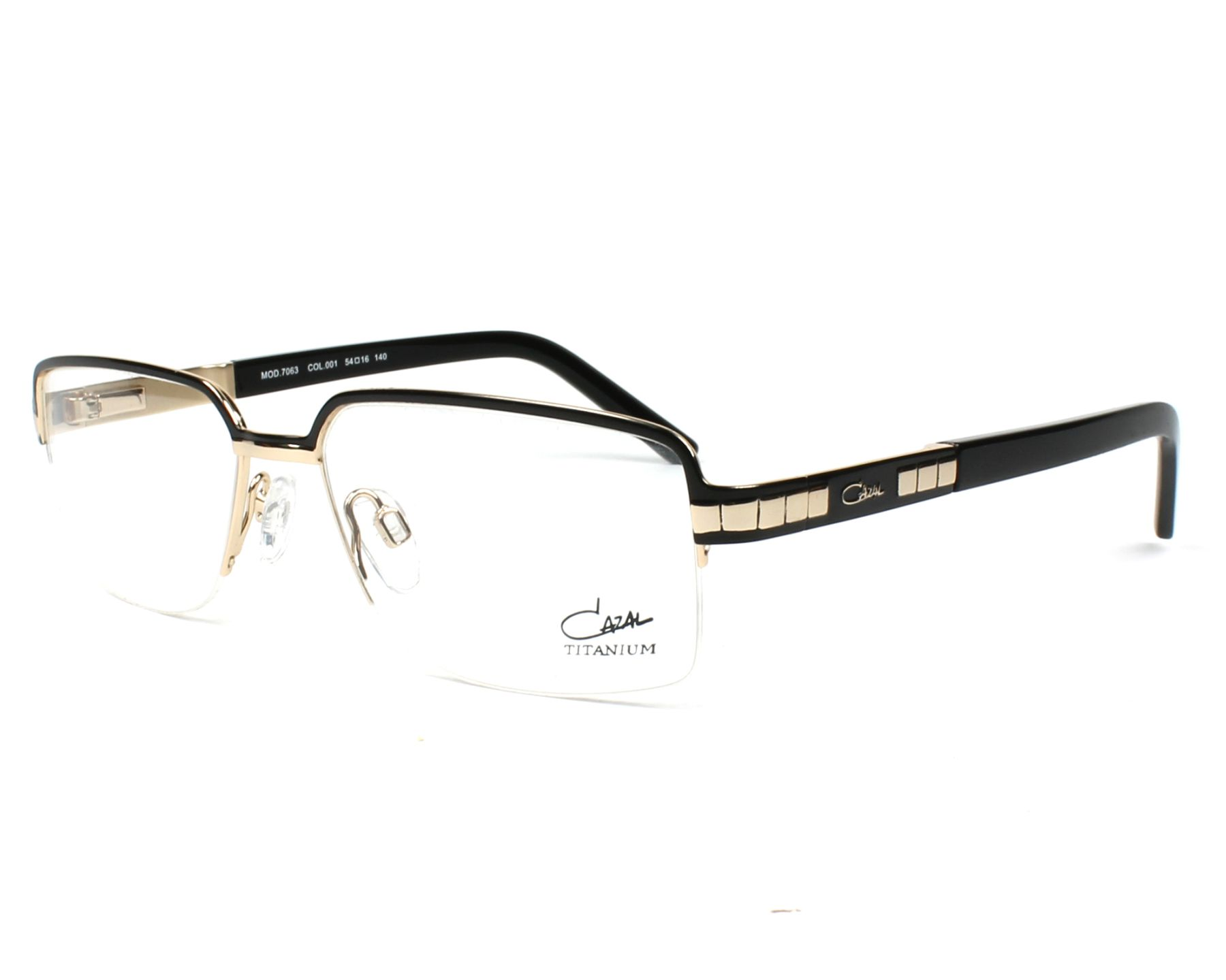 d80cb9d4c8 eyeglasses Cazal 7063 001 - Black Gold profile view