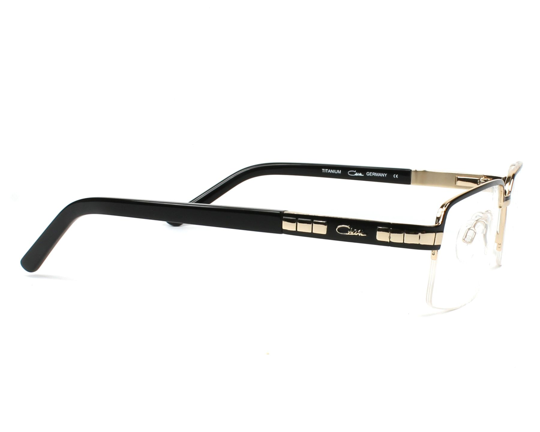 38d39a7977 eyeglasses Cazal 7063 001 - Black Gold side view