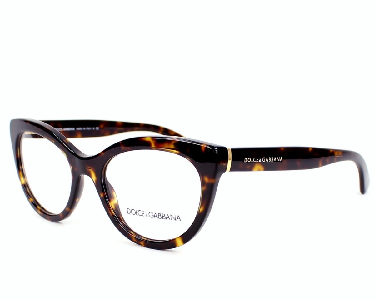 ddbac619ce eyeglasses Dolce & Gabbana DG-3197 502 - Havana Gold profile view