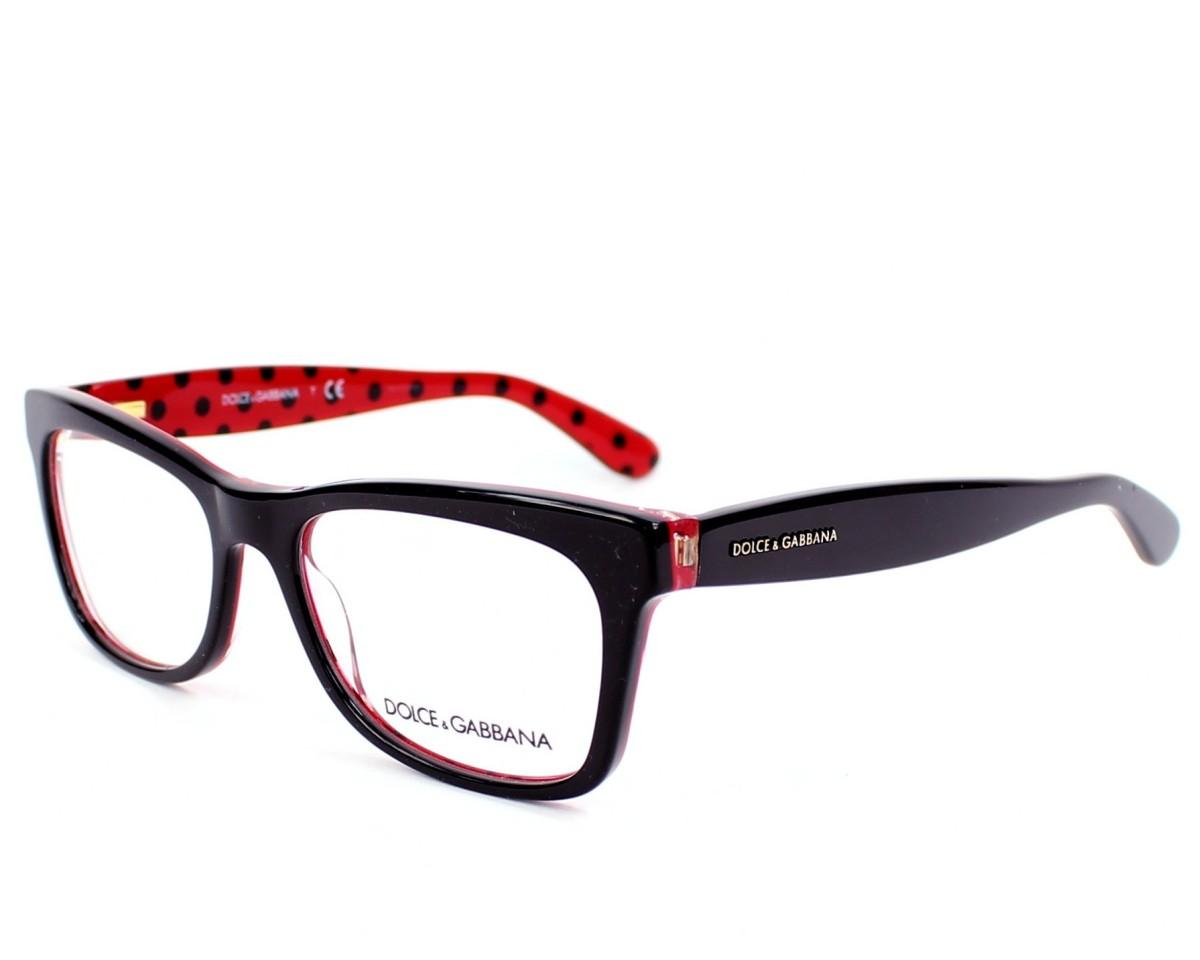 6b3eb8e21ced eyeglasses Dolce & Gabbana DG-3199 2871 - Black Red profile view