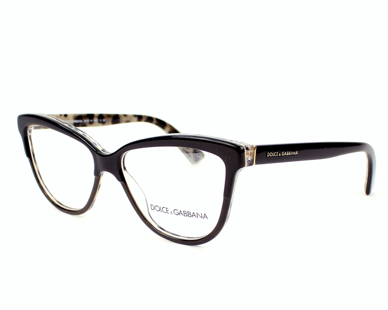 068349ab95d2 eyeglasses Dolce & Gabbana DG-3229 2857 - Black Taupe profile view