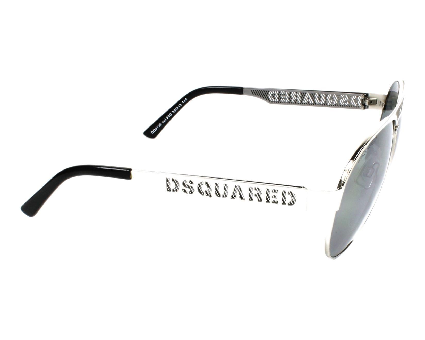 975ba55584 thumbnail Sunglasses DSQUARED DQ-0138 20C - Silver side view