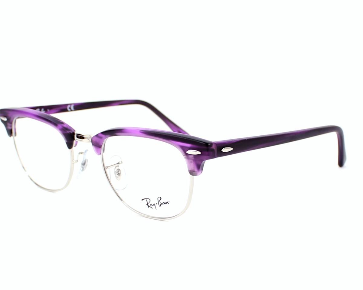 a954b45001d eyeglasses Ray-Ban RX-5154 5257 - Purple Silver profile view