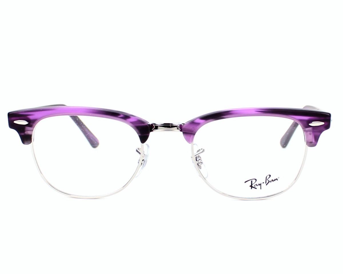 69a518ba689 eyeglasses Ray-Ban RX-5154 5257 - Purple Silver front view