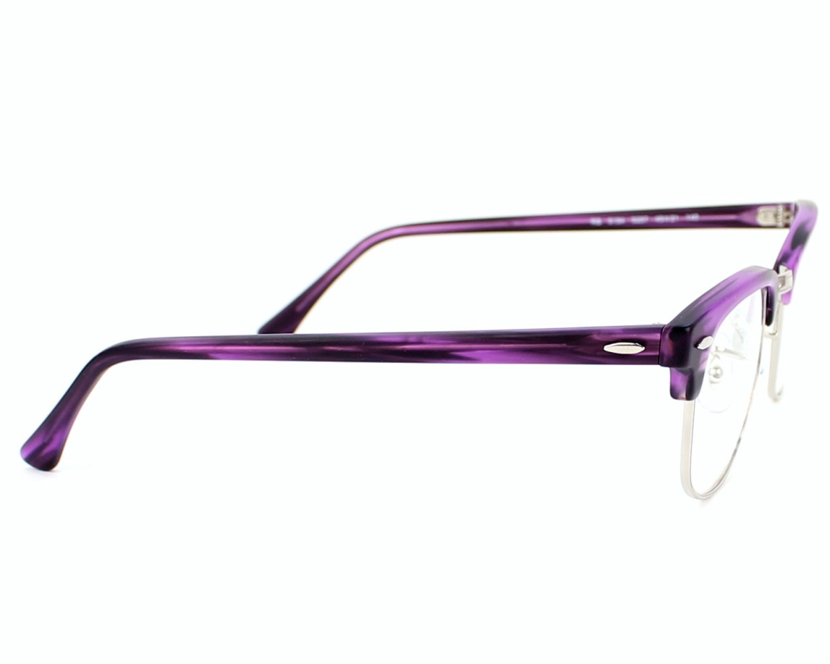 44290ccef01 eyeglasses Ray-Ban RX-5154 5257 - Purple Silver side view