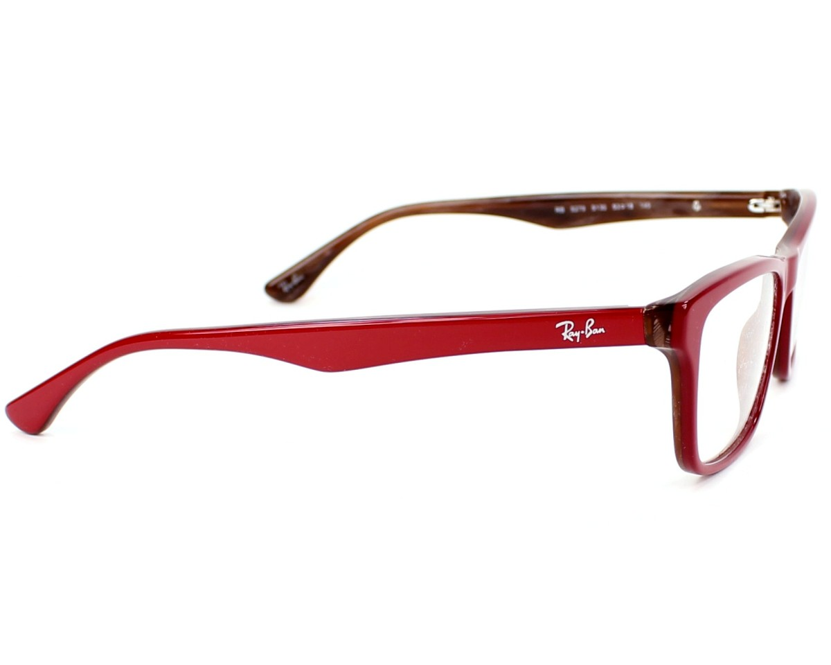 5cc6a7b2ee eyeglasses Ray-Ban RX-5279 5130 - Red Brown side view